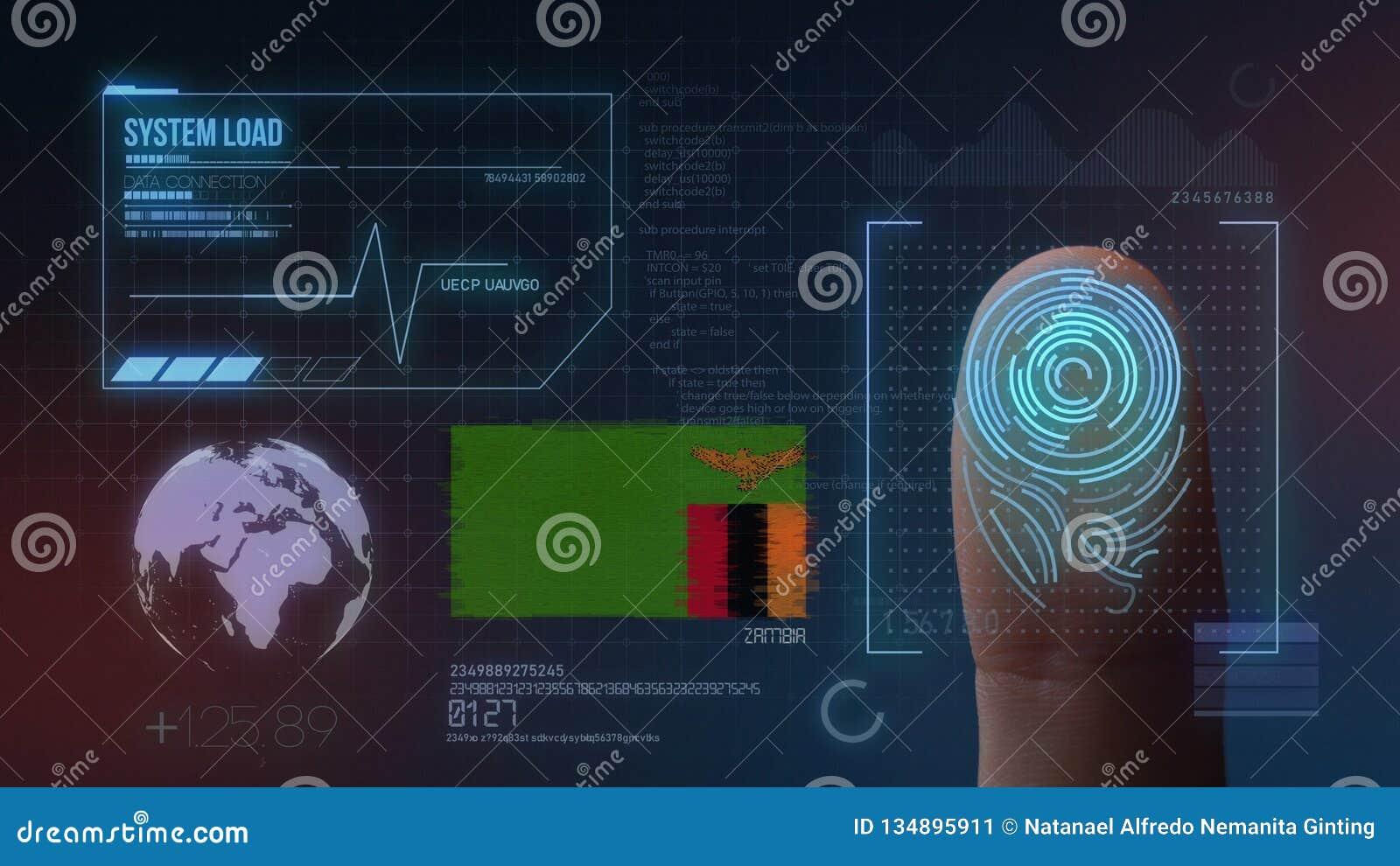 Système d identification de balayage biométrique d empreinte digitale Nationalité de la Zambie