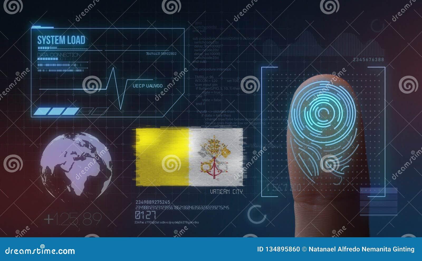 Système d identification de balayage biométrique d empreinte digitale Nationalité de Ville du Vatican