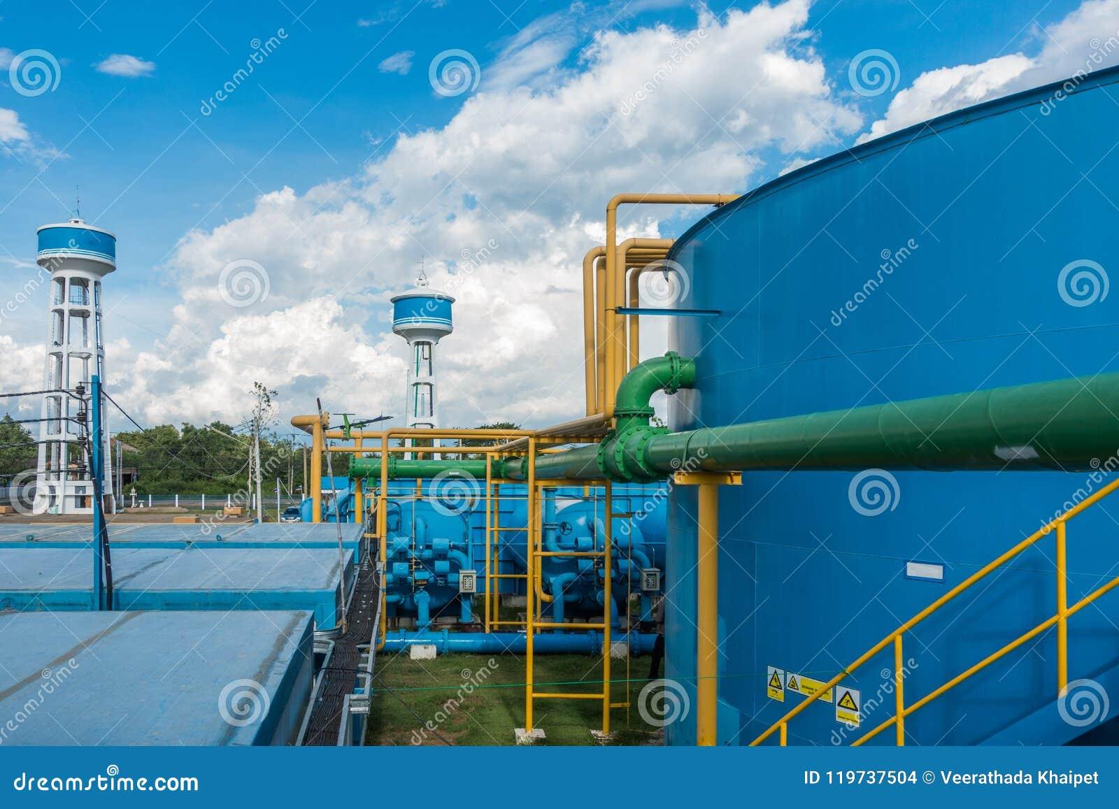 Système de purification d eau sur la station d épuration industrielle