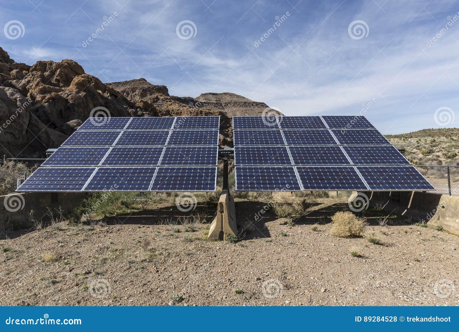 Système solaire à la conserve nationale de Mojave