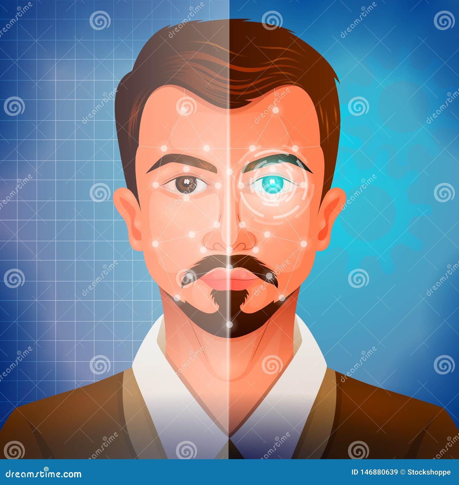Syst?me facial de Recogination pour le balayage de visage et l authentification d identification