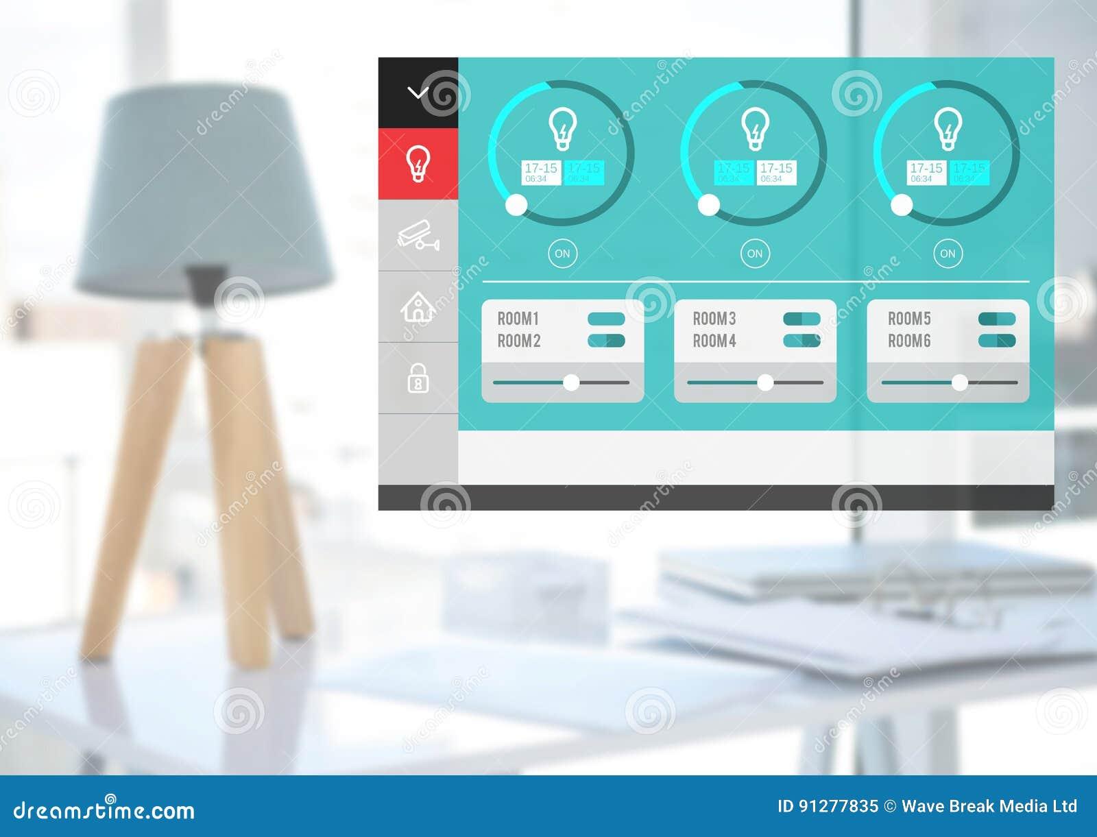 System för hem- automation som tänder App-manöverenheten