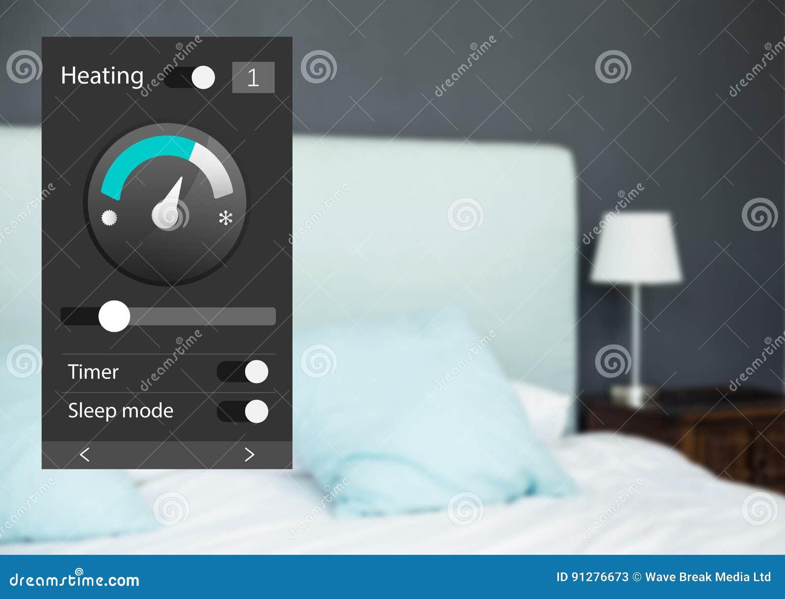 System för hem- automation som värmer App-manöverenheten