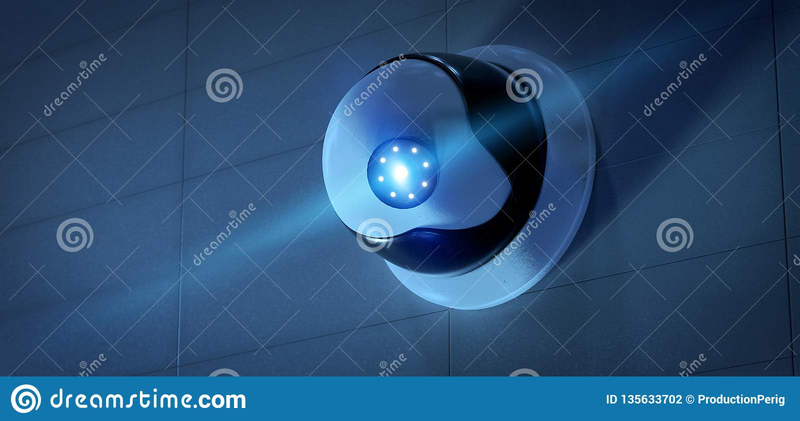 System för säkerhetsCCTV-kamera - tolkning 3d