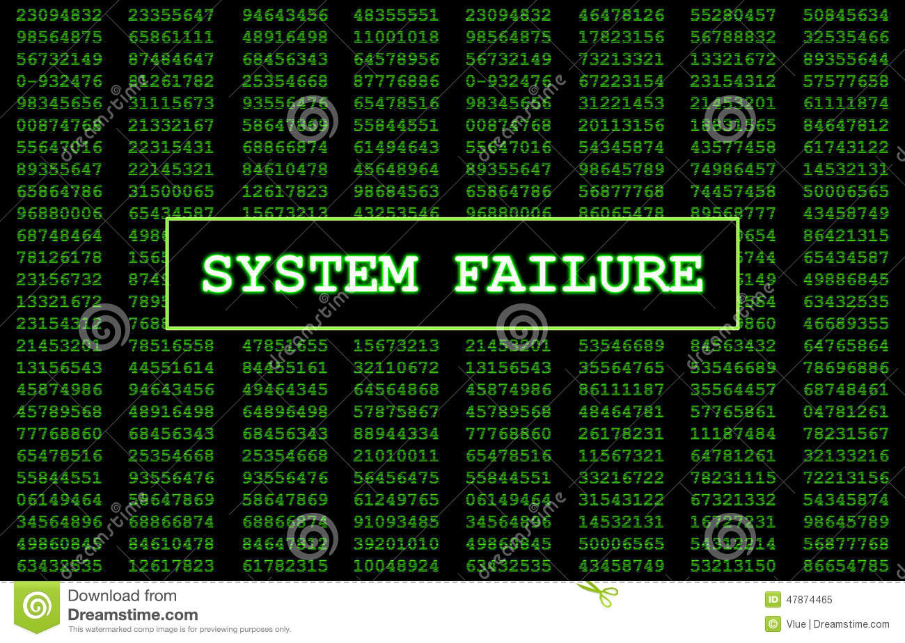 System Failure Stock Illustration Image 47874465