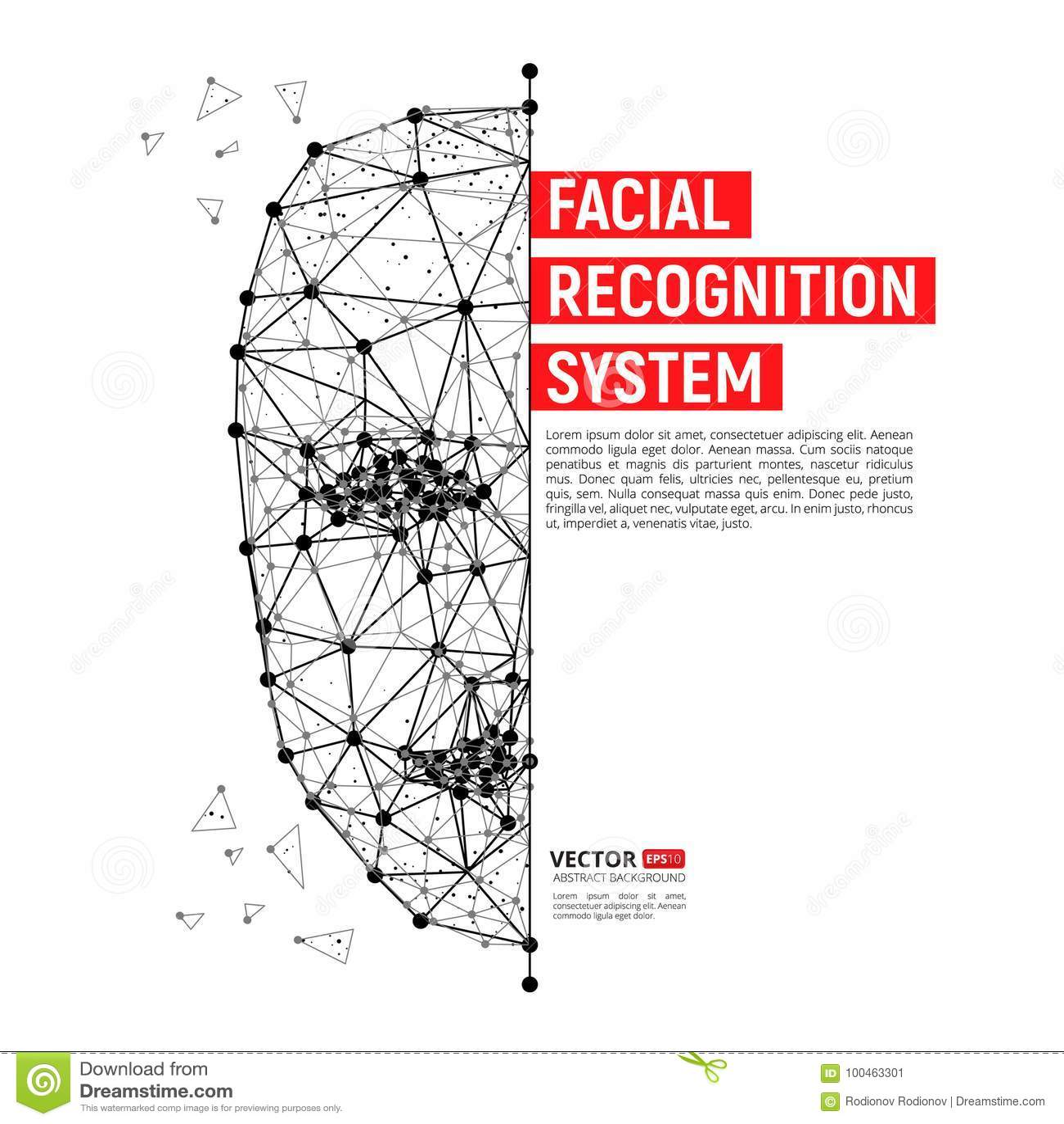 Systembegrepp för Biometric ID eller för ansikts- erkännande
