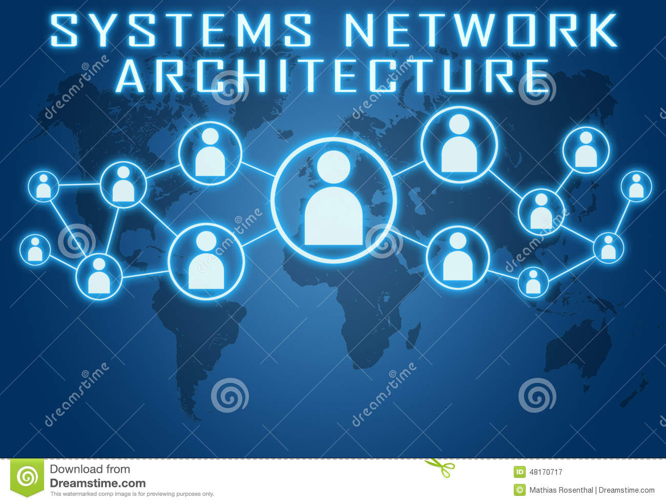 Systems Network Architecture Stock Illustration