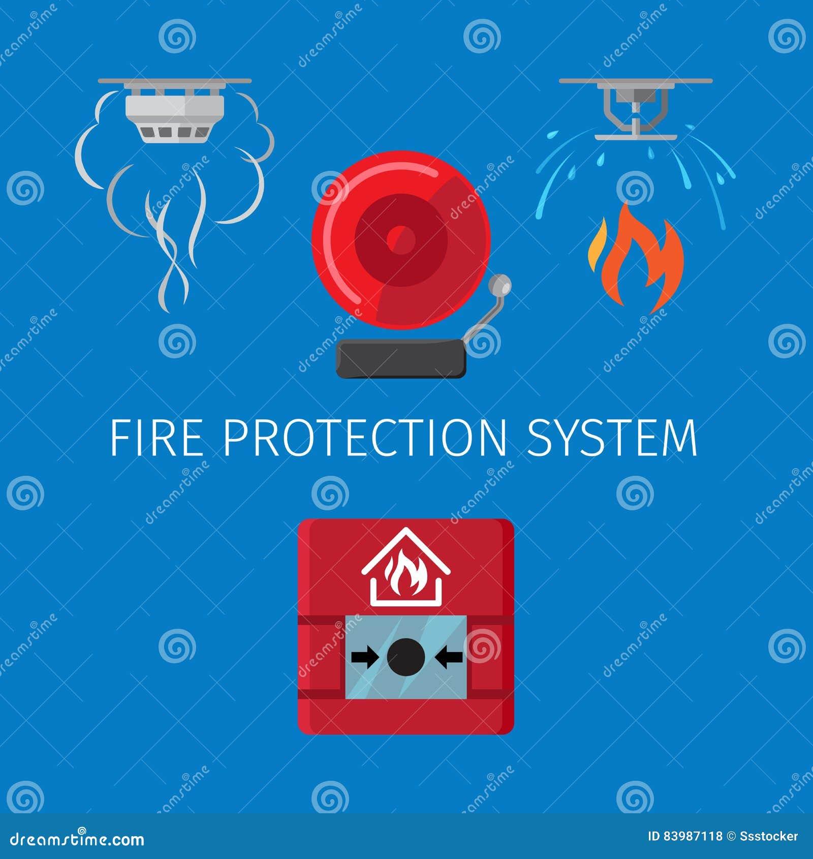 syst me de lutte anti incendie illustration de vecteur image 83987118. Black Bedroom Furniture Sets. Home Design Ideas