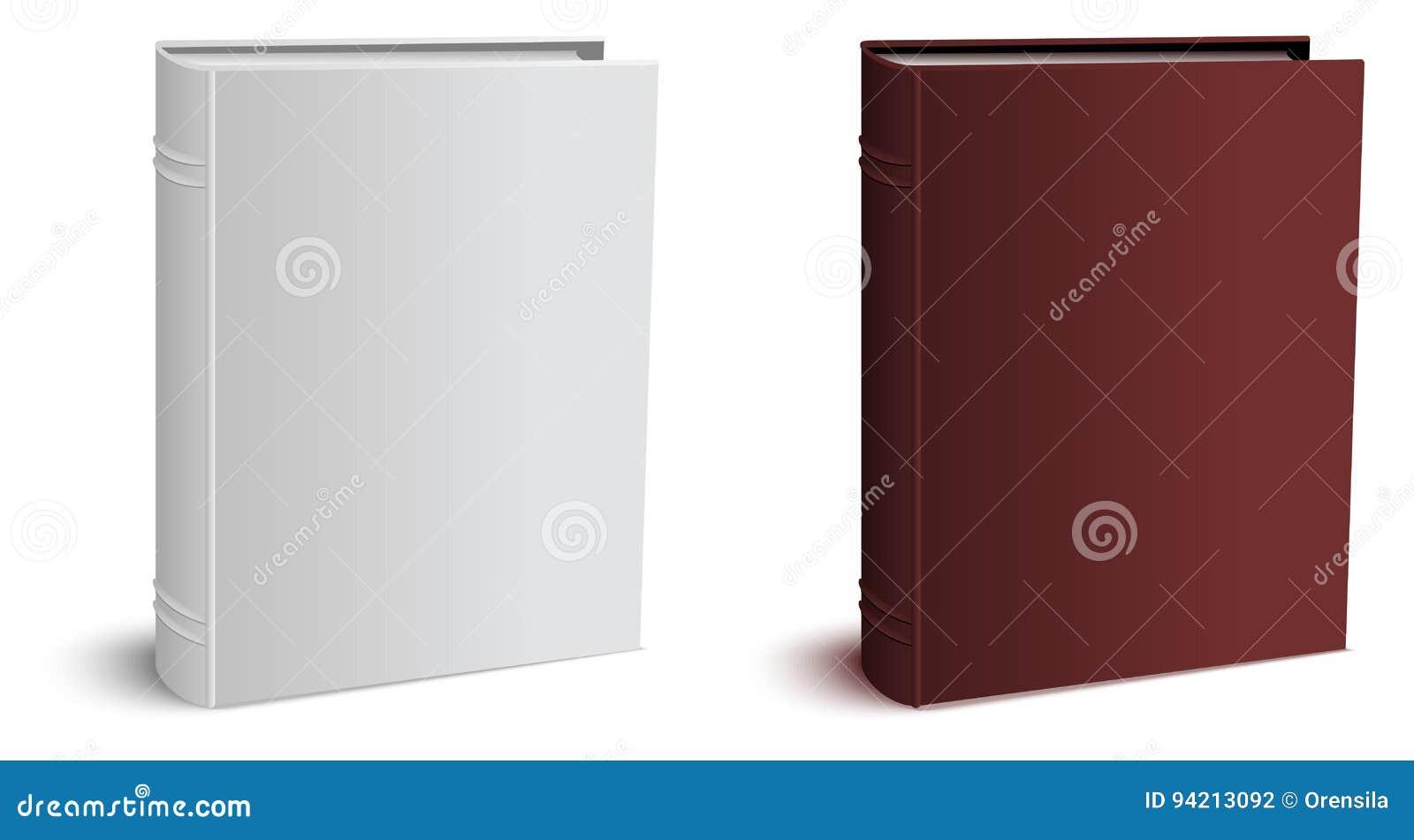 Szablon trójwymiarowy hardcover zamykająca książka