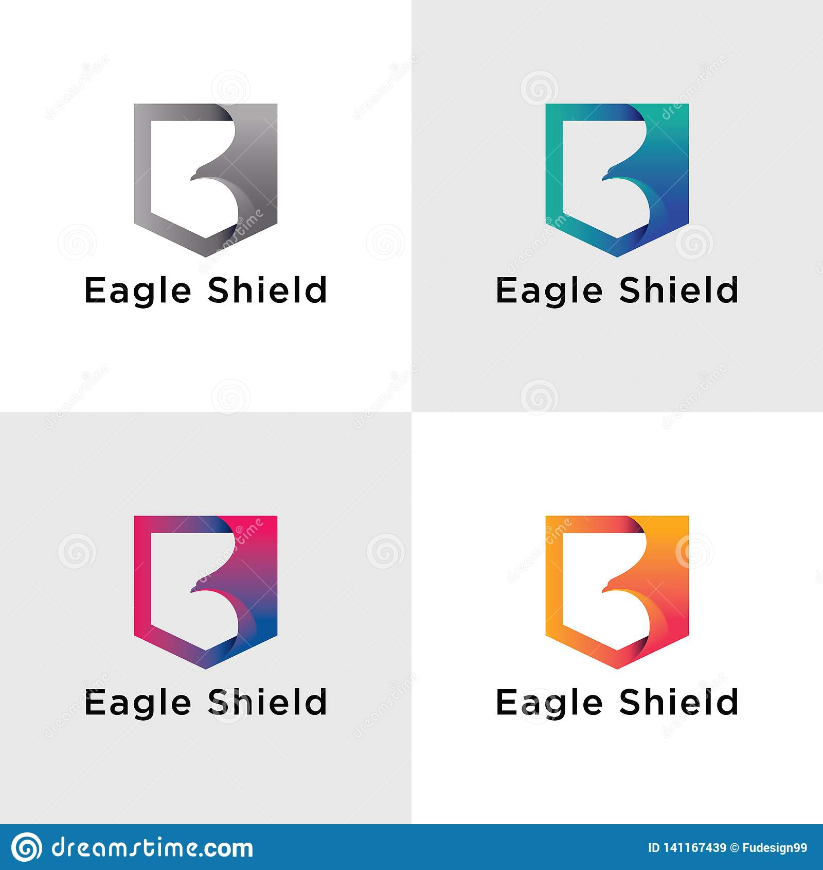Szablonu Eagle logo