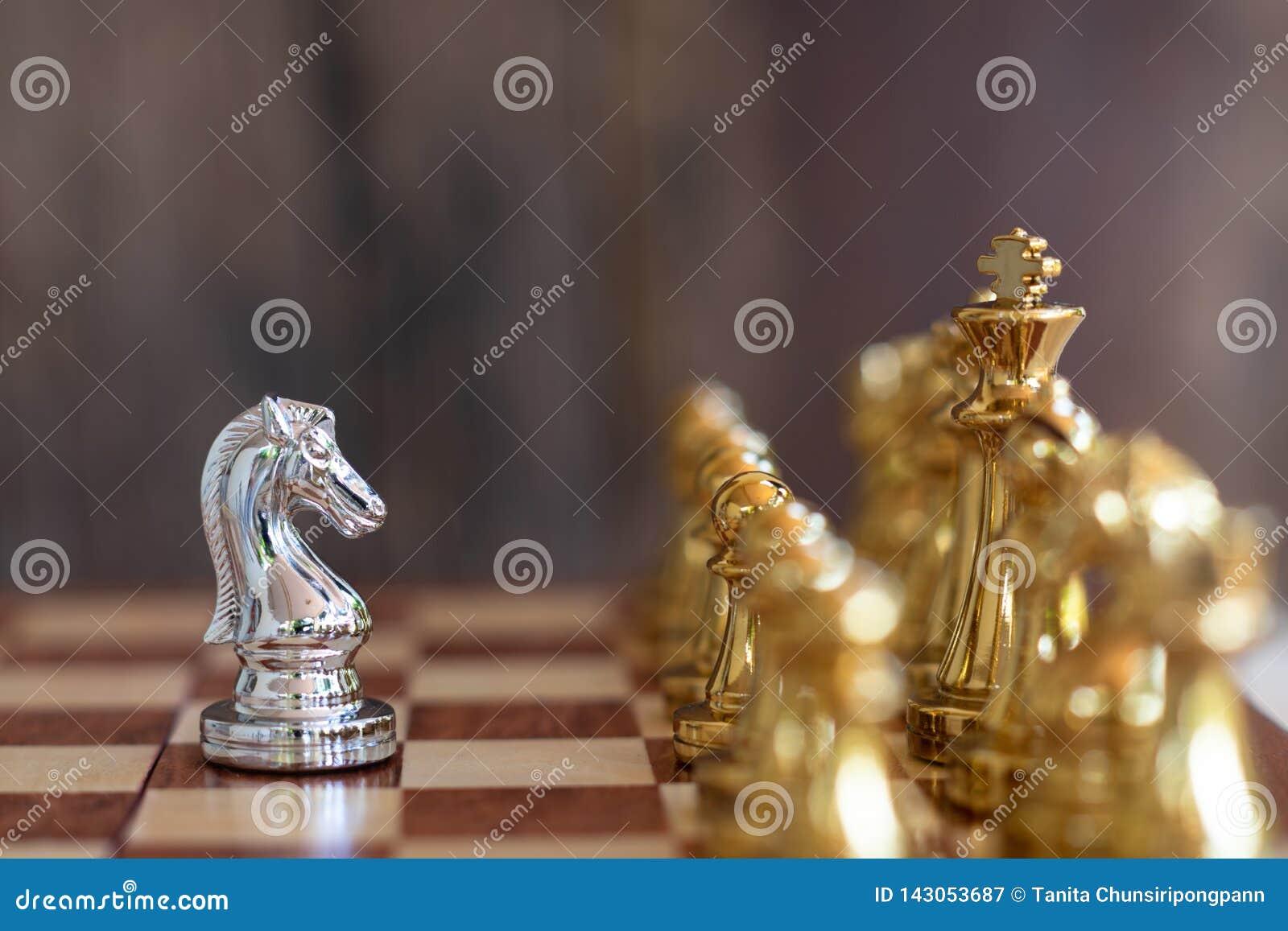 Szachowa gra planszowa, biznesowy konkurencyjny pojęcie