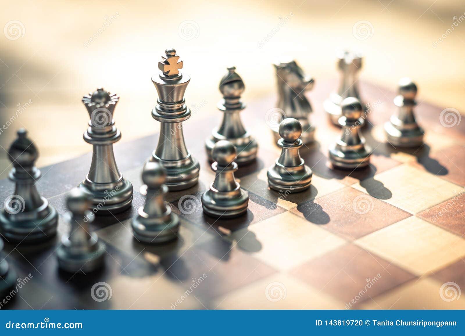 Szachowa gra planszowa, biznesowy konkurencyjny poj?cie, kopii przestrze?