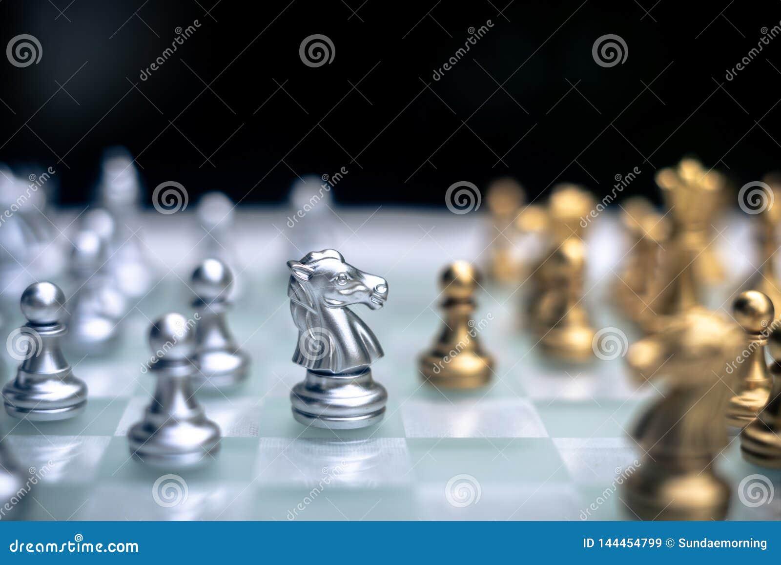Szachowa gra planszowa, biznesowy konkurencyjny poj?cie