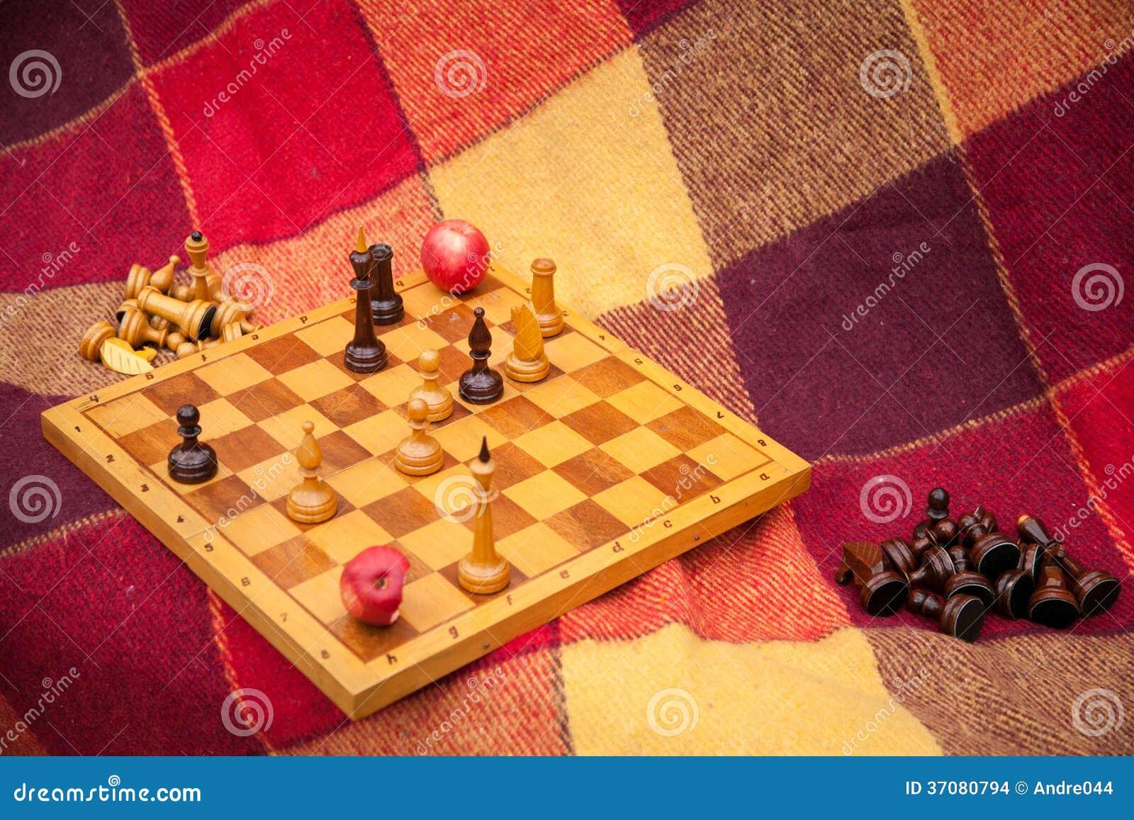 Download Szachowi Kawałki. Sztuka Szachy W Parku W Dwa. Zdjęcie Stock - Obraz złożonej z edukacja, szachy: 37080794