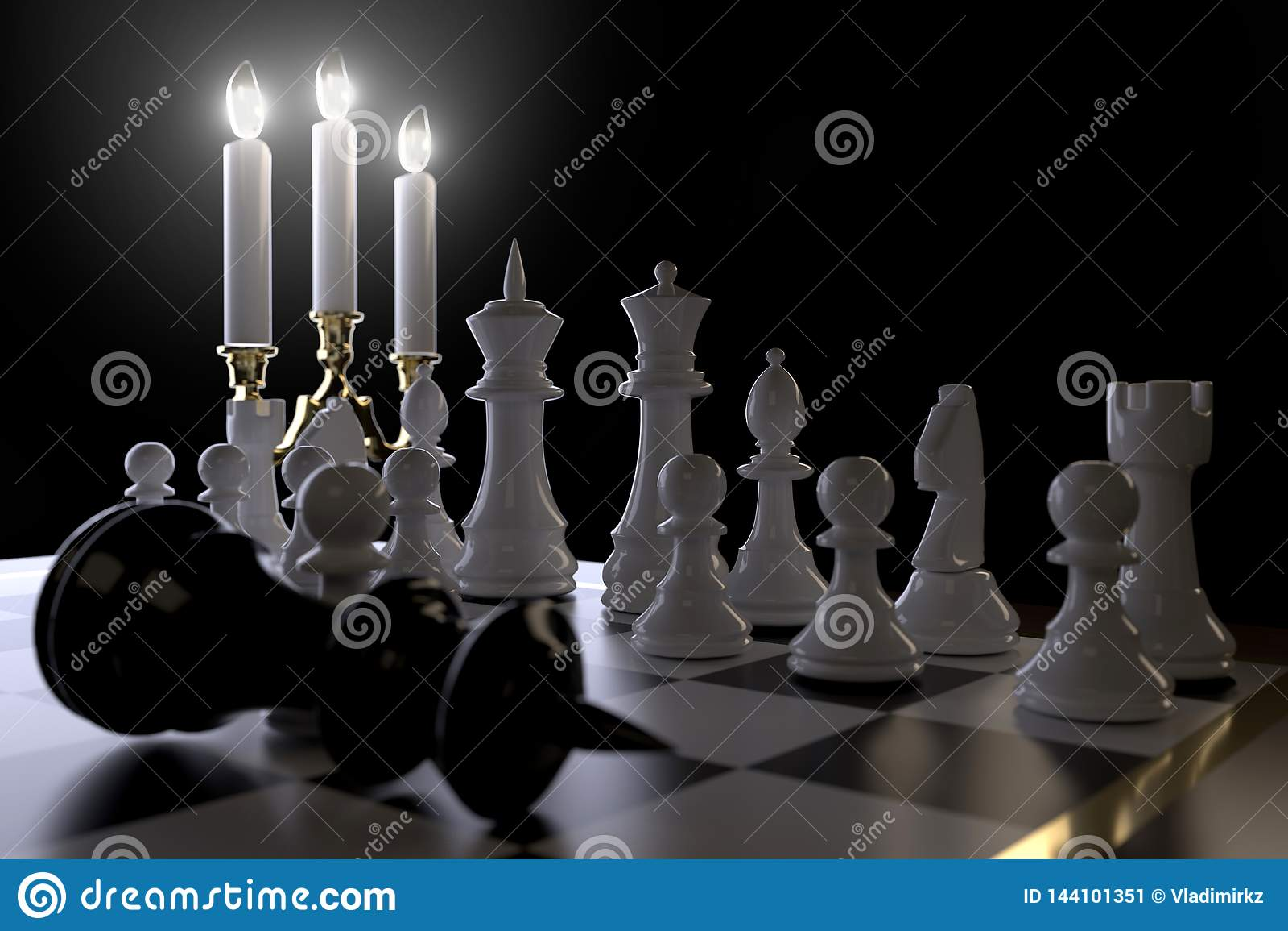 Szachy i świeczki