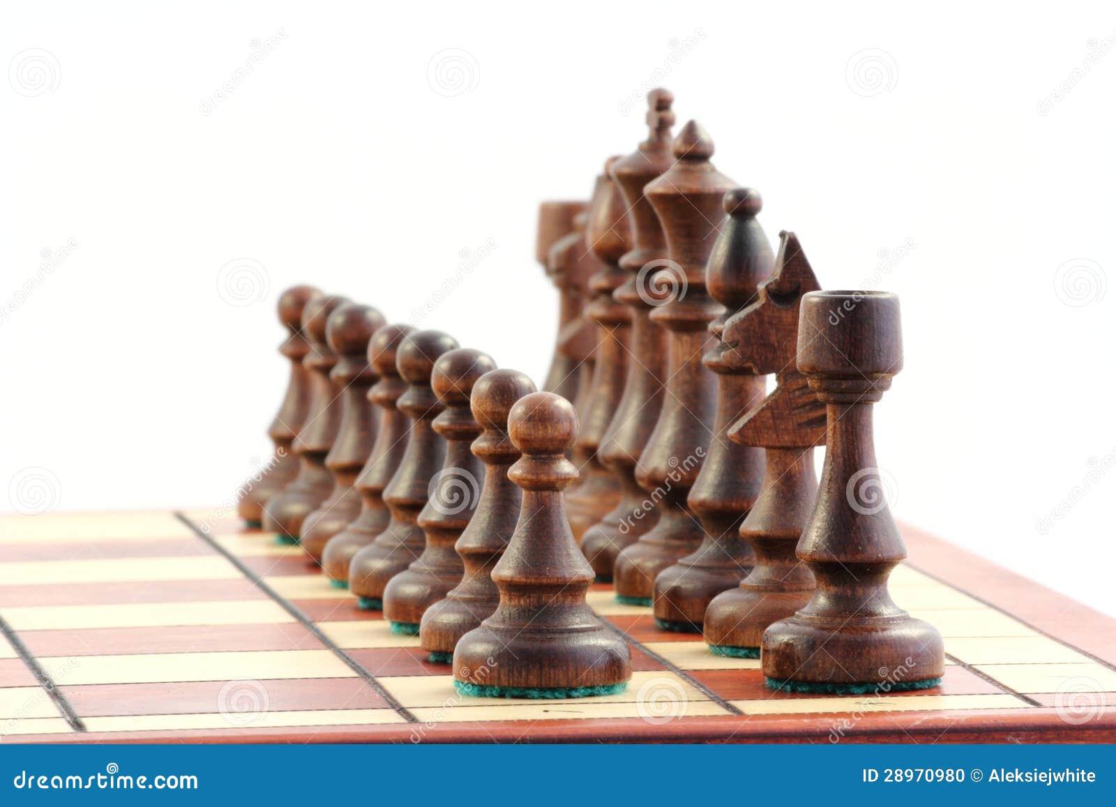 Szachy na chessboard