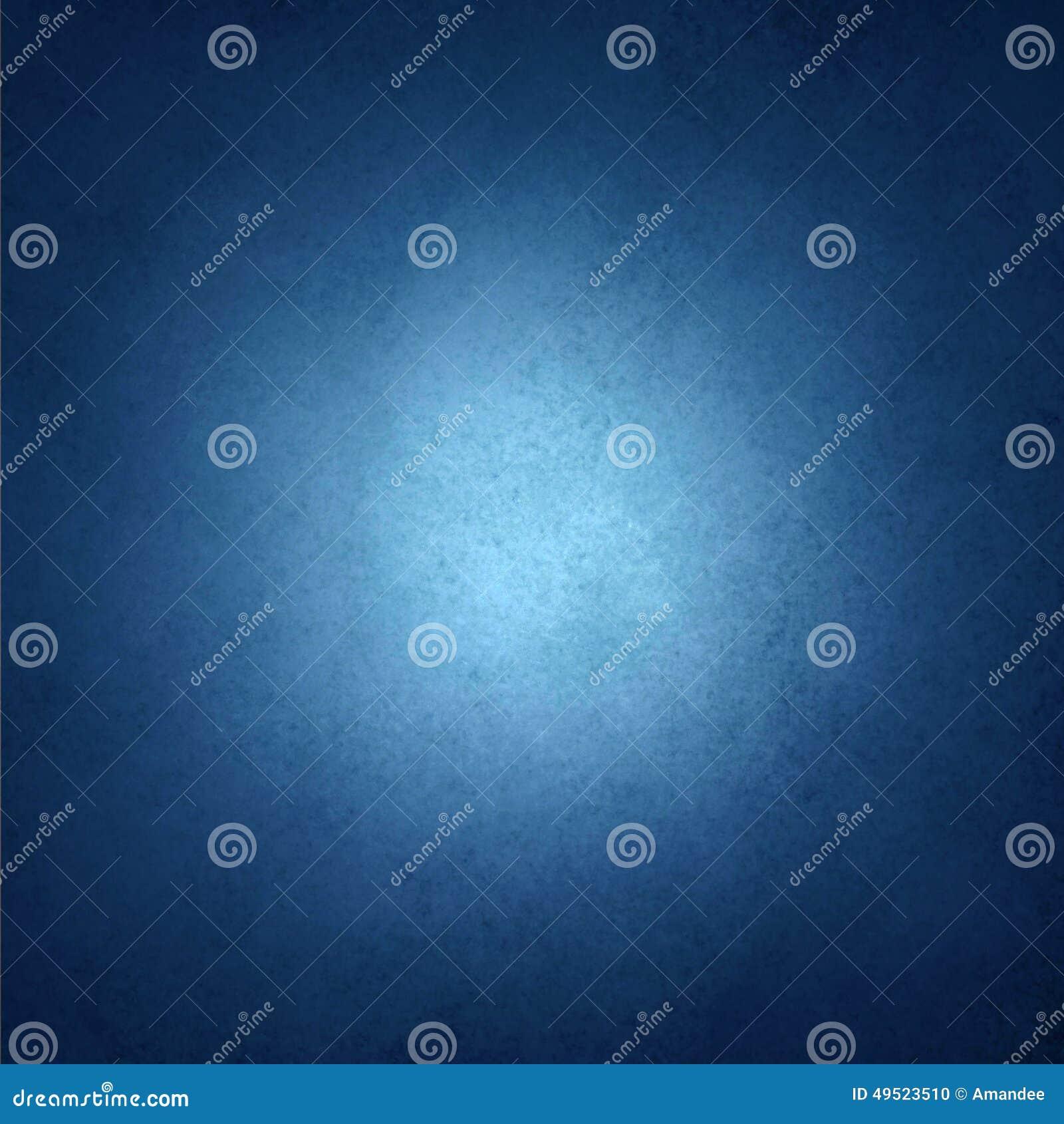 Szafirowy błękitny tło z czarną winiety granicą i bielu centrum światło reflektorów z copyspace dla teksta lub wizerunku