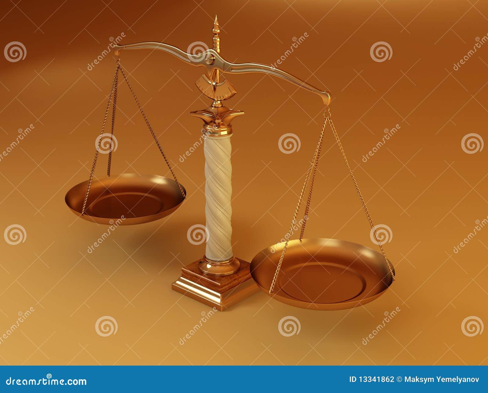 Szalkowy sprawiedliwość symbol