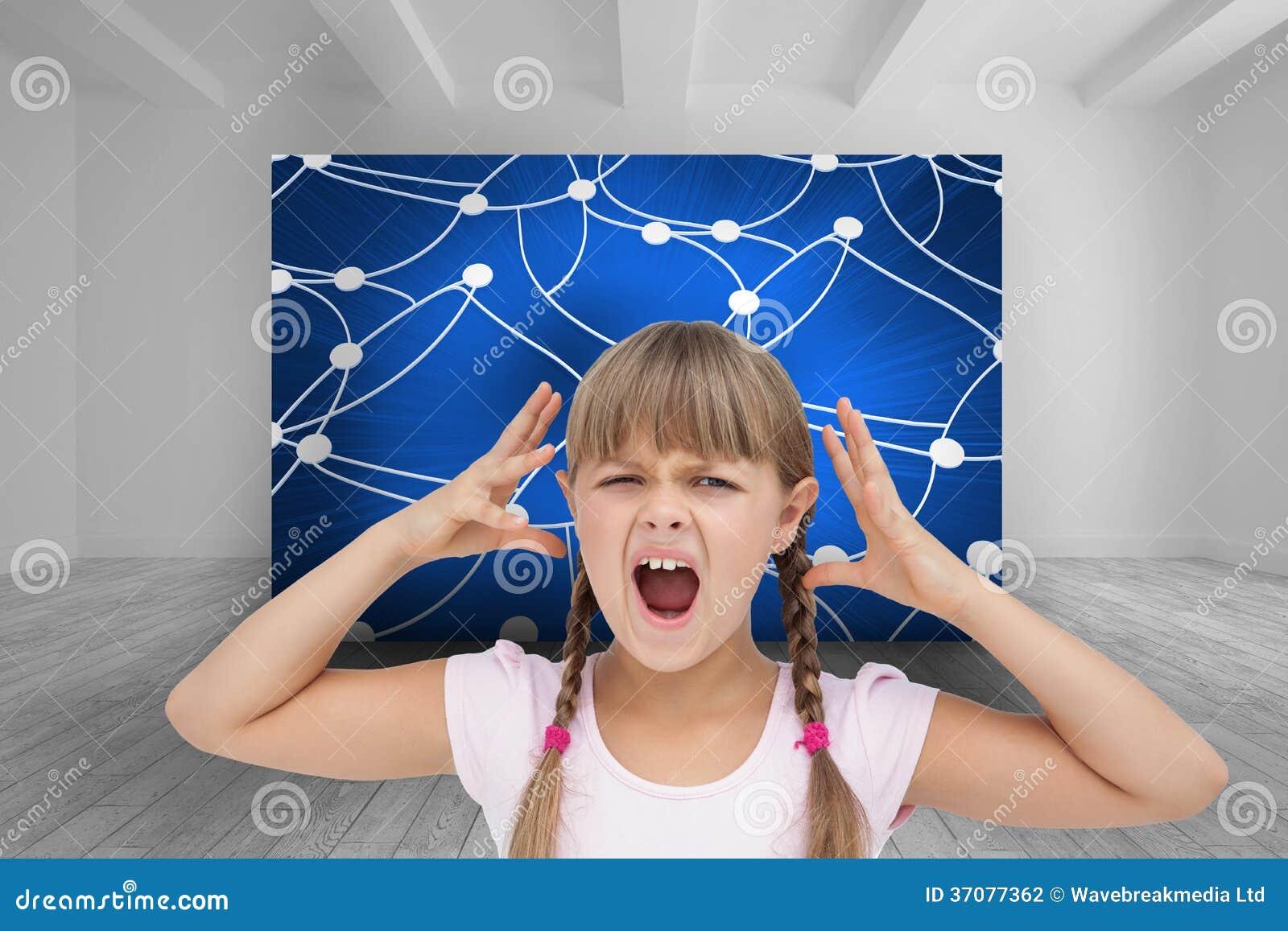 Download Szalona mała dziewczynka ilustracji. Ilustracja złożonej z jarmark - 37077362