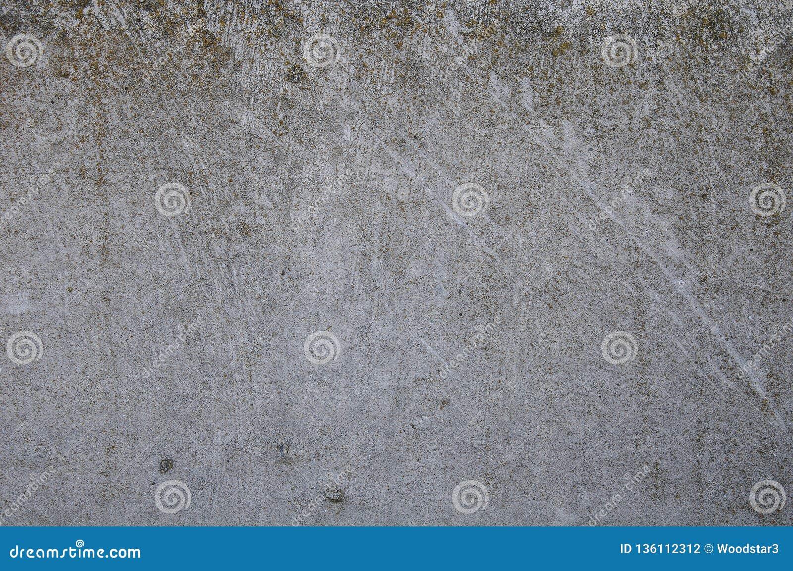 Szarości tekstury betonowy tło pęknięcia narysy szkoda