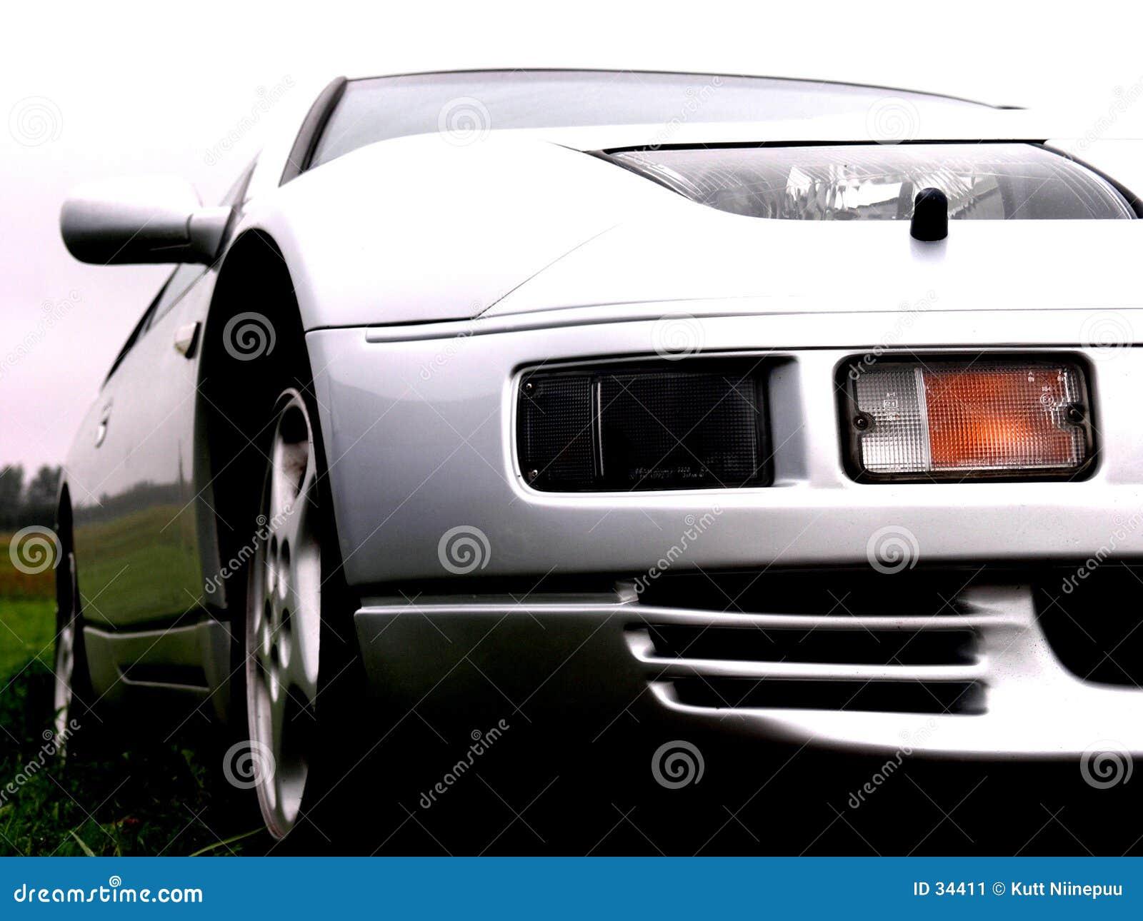 Szary światła samochodu