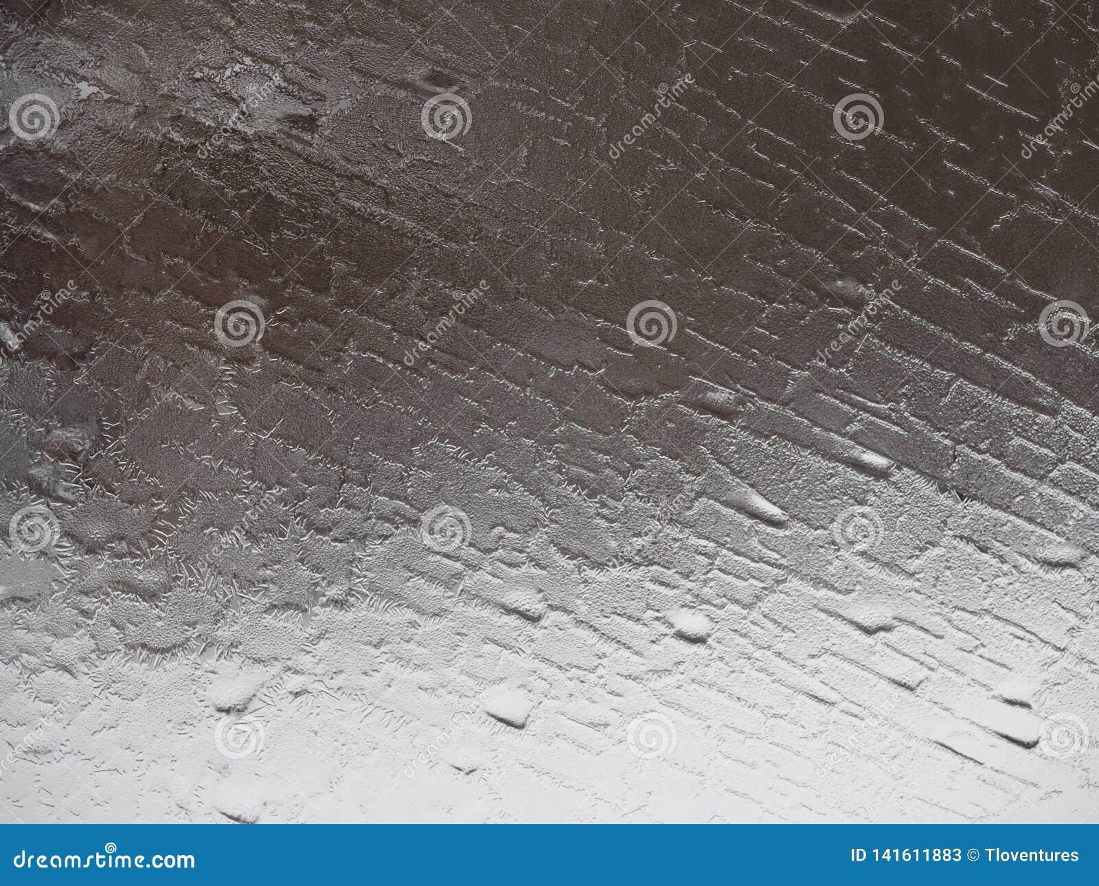 Szary abstrakta wzór od Mroźnego okno