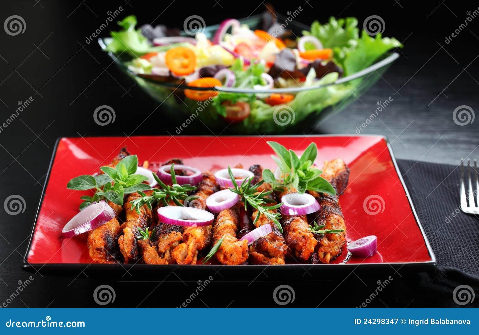 Szaszłyka sałatkowy warzywo