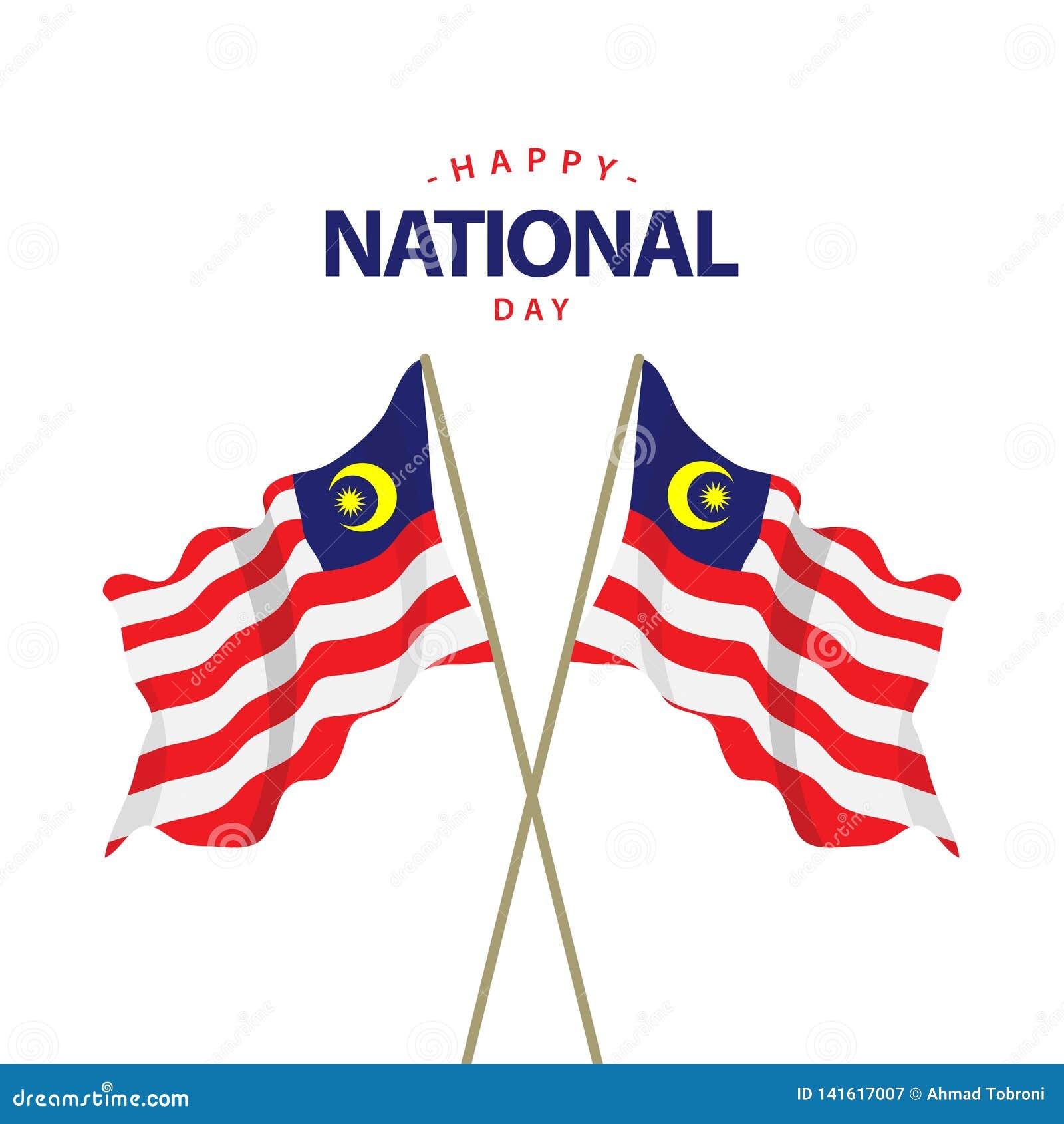 Szczęśliwego Malezja święta państwowego szablonu projekta Wektorowa ilustracja