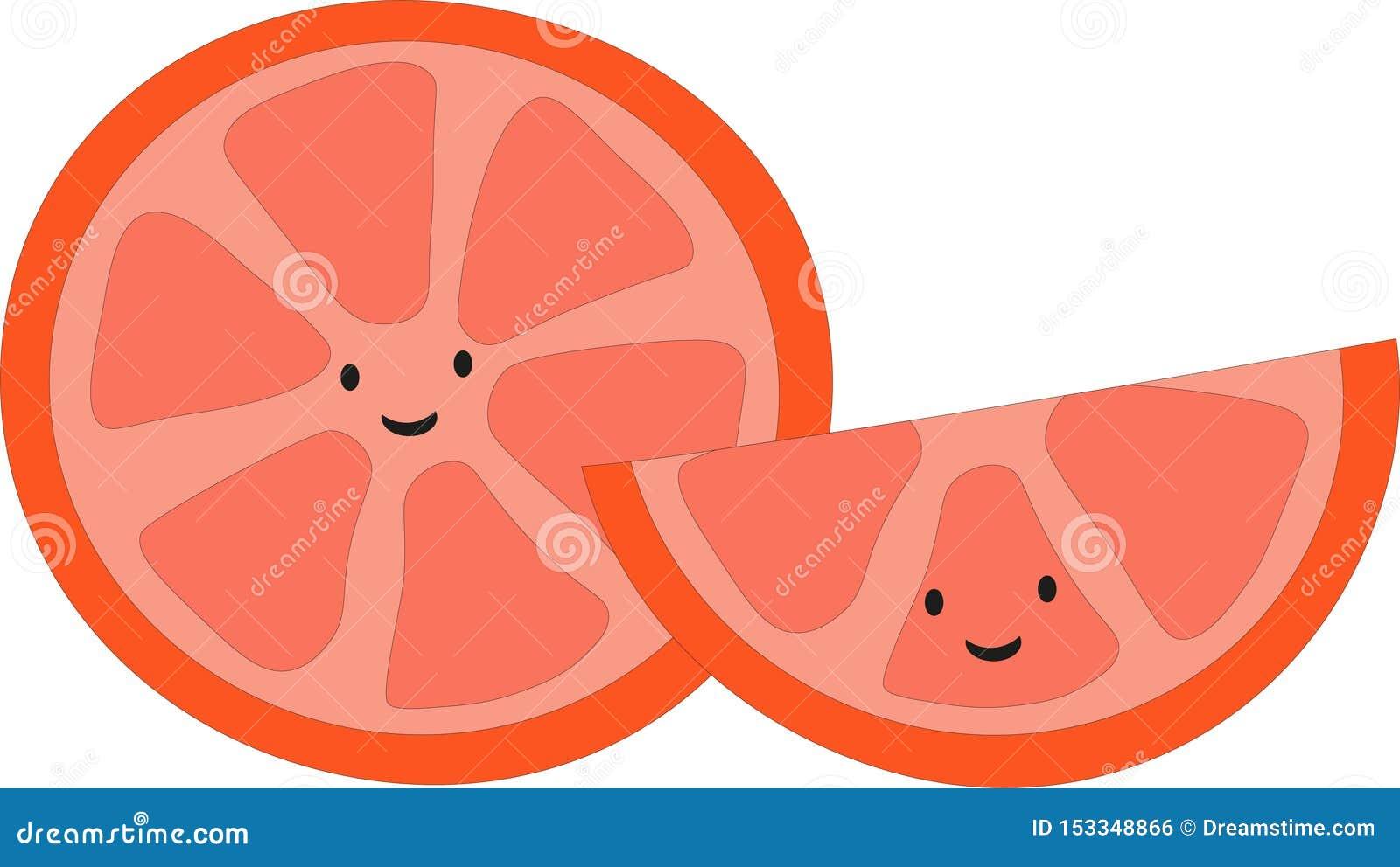 Szczęśliwa ładna śliczna pomarańcze z smiley twarzą