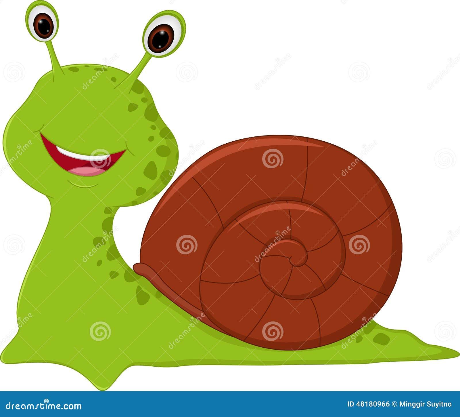 Szczęśliwa ślimaczek kreskówka