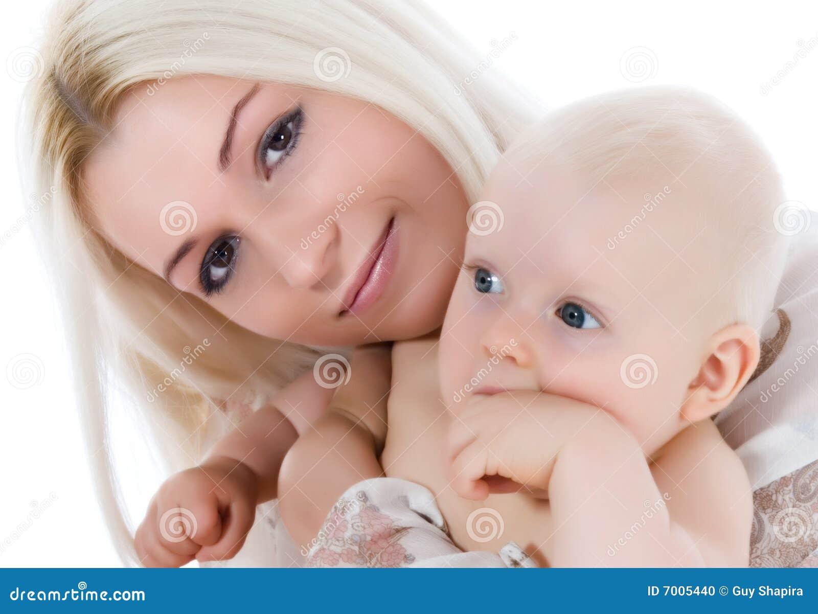 Szczęśliwa dziecko matka