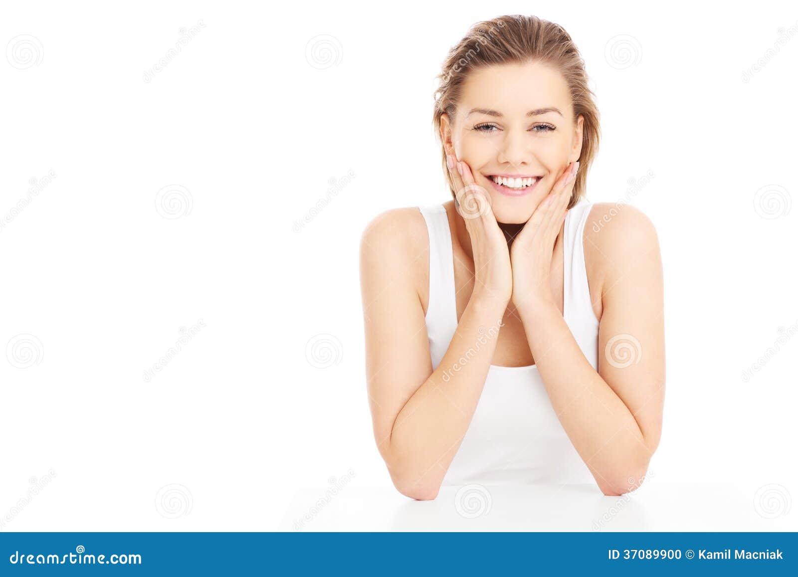 Download Szczęśliwa dziewczyna zdjęcie stock. Obraz złożonej z sukces - 37089900