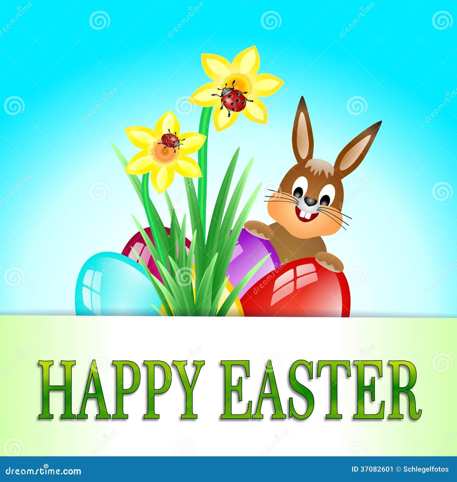 Download Szczęśliwa Easter karta ilustracji. Ilustracja złożonej z przyjęcie - 37082601