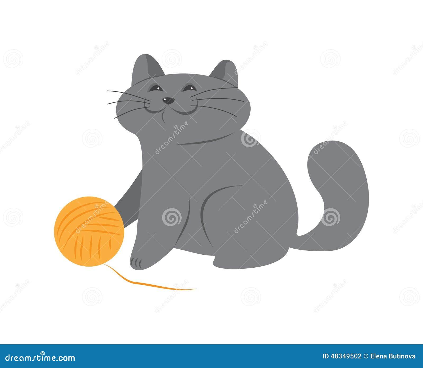Szczęśliwa figlarka z piłką wełna