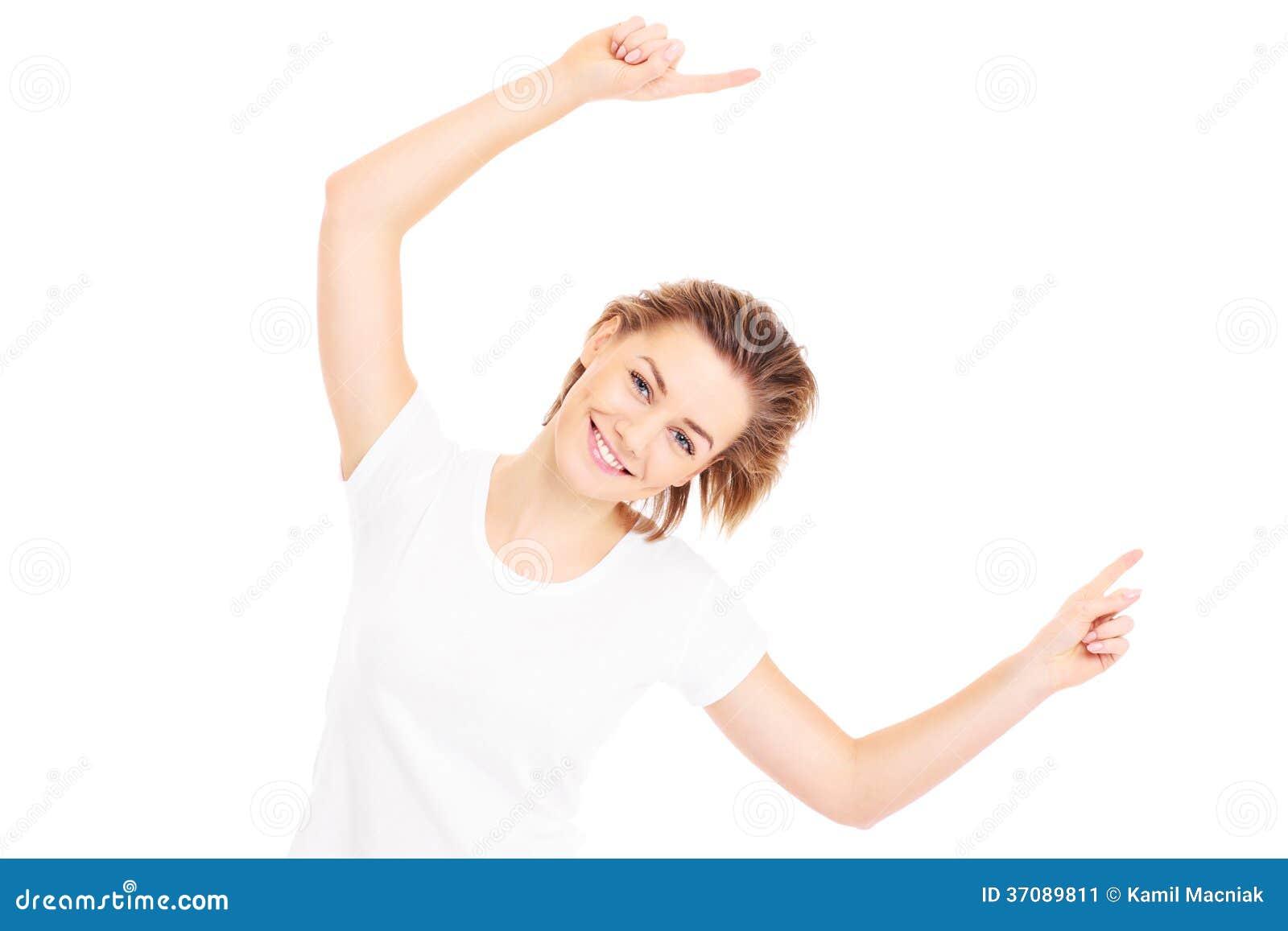 Download Szczęśliwa kobieta obraz stock. Obraz złożonej z zabawa - 37089811