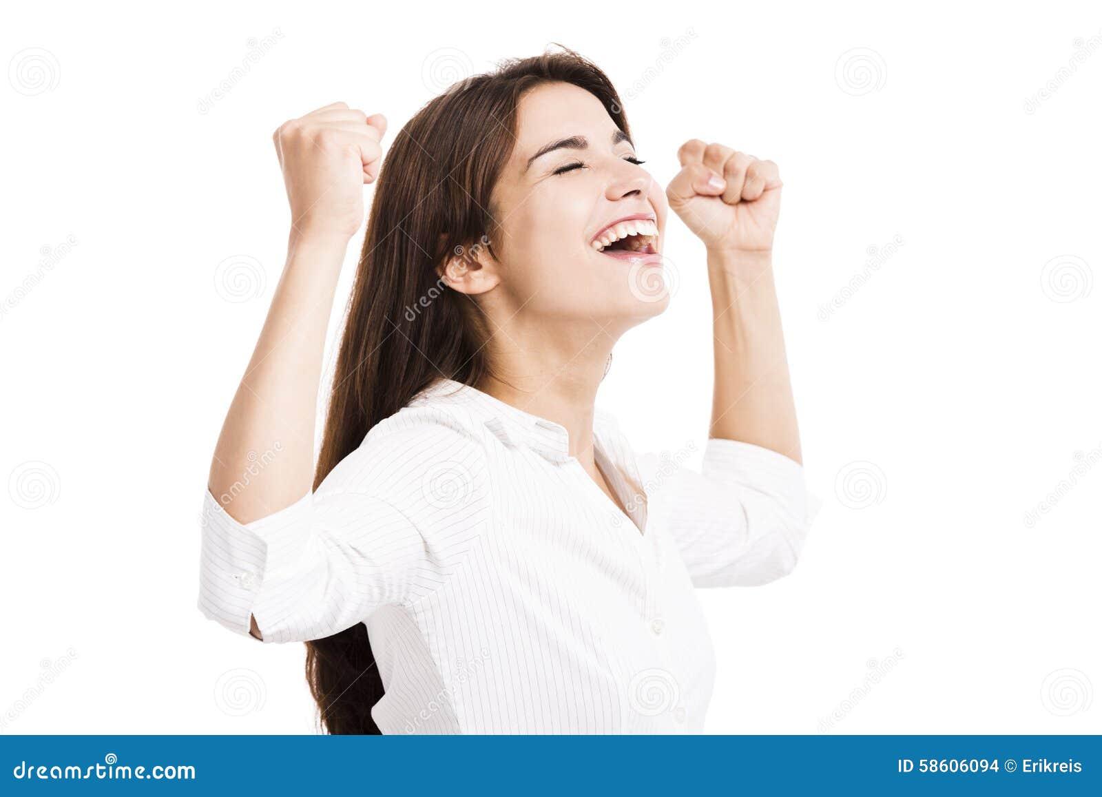 Szczęśliwa kobieta jednostek gospodarczych