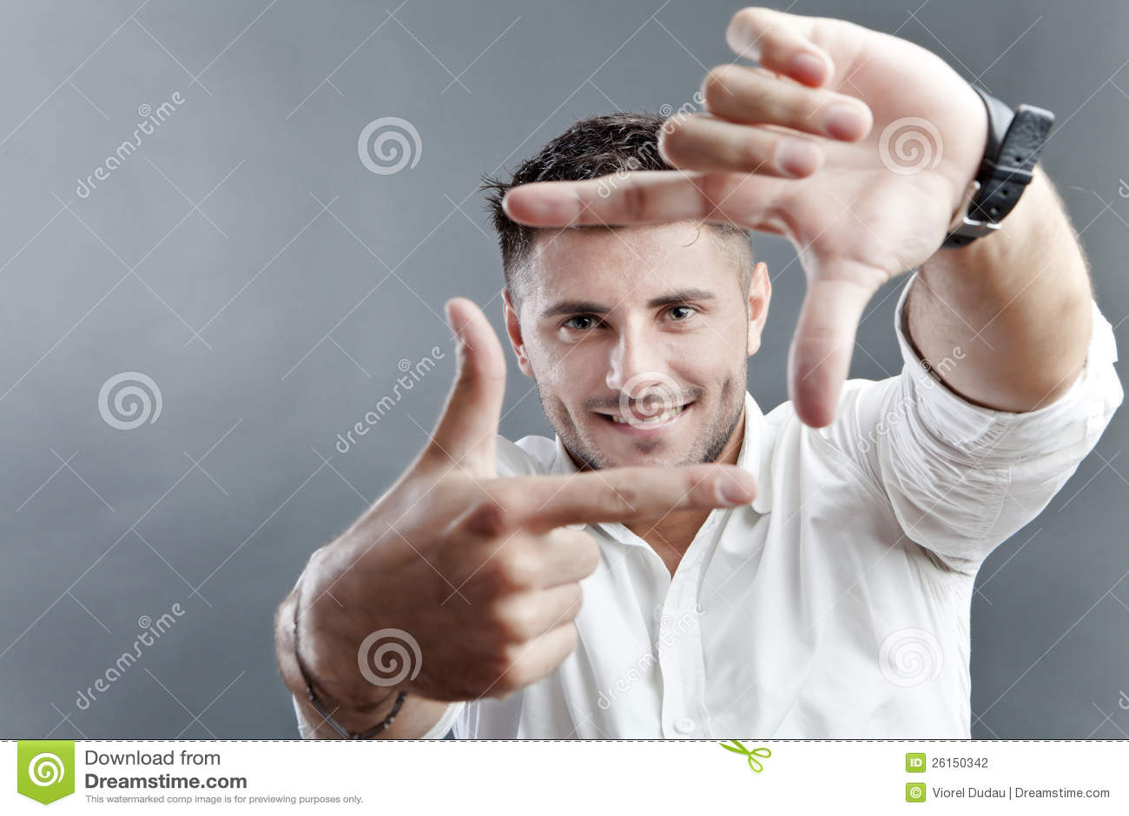 Szczęśliwa mężczyzna otoczki twarz
