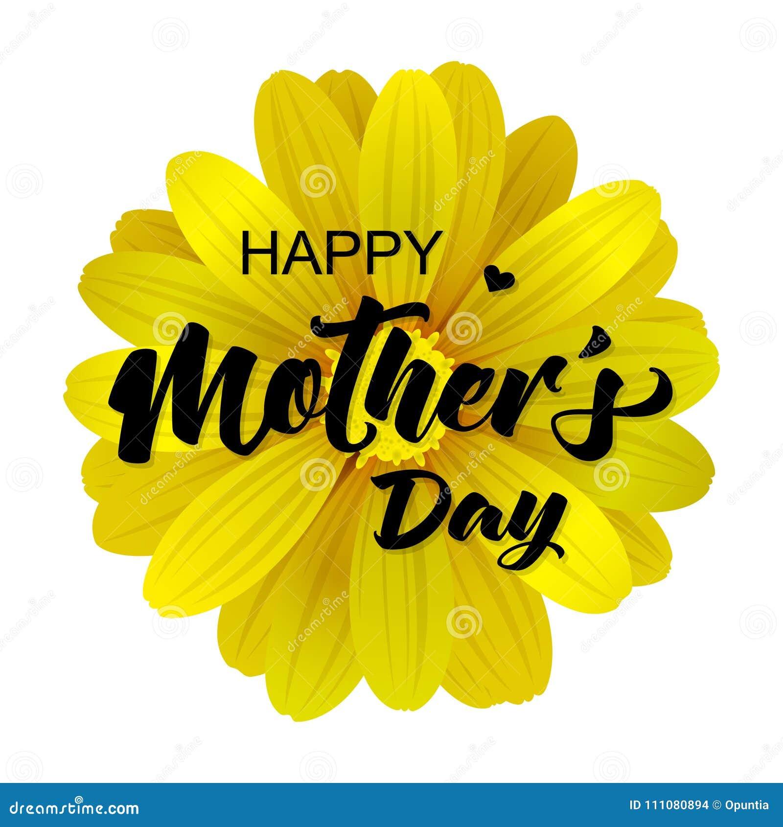 Szczęśliwa matka dnia karta z realistycznym 3d kwiatem