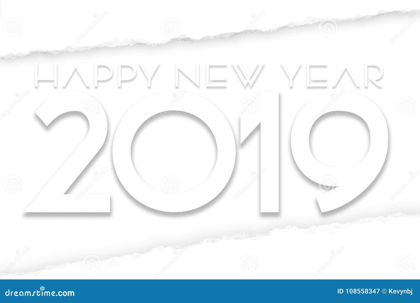 Szczęśliwa nowy rok 2019 sztuka