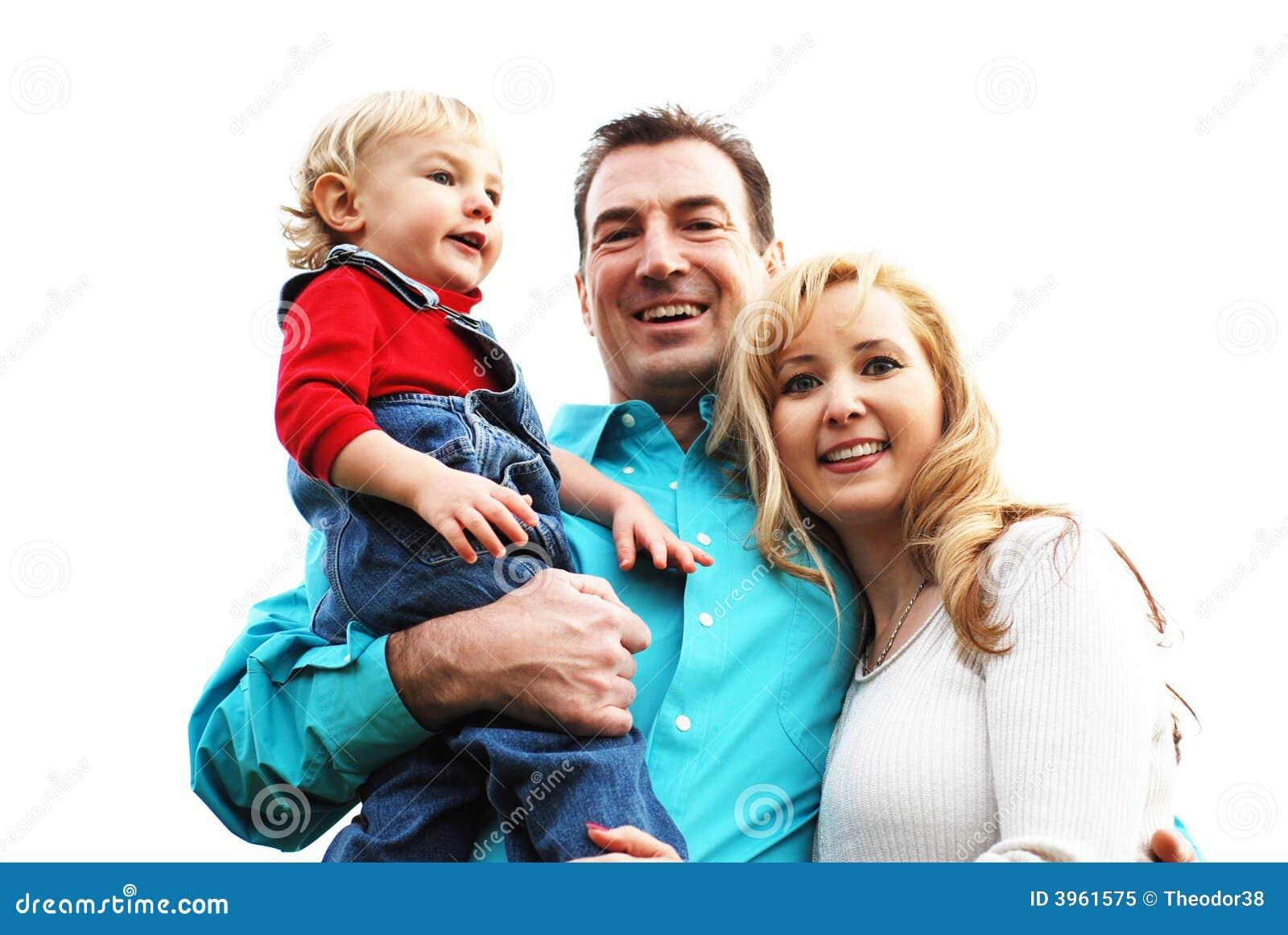 Szczęśliwa para dziecka