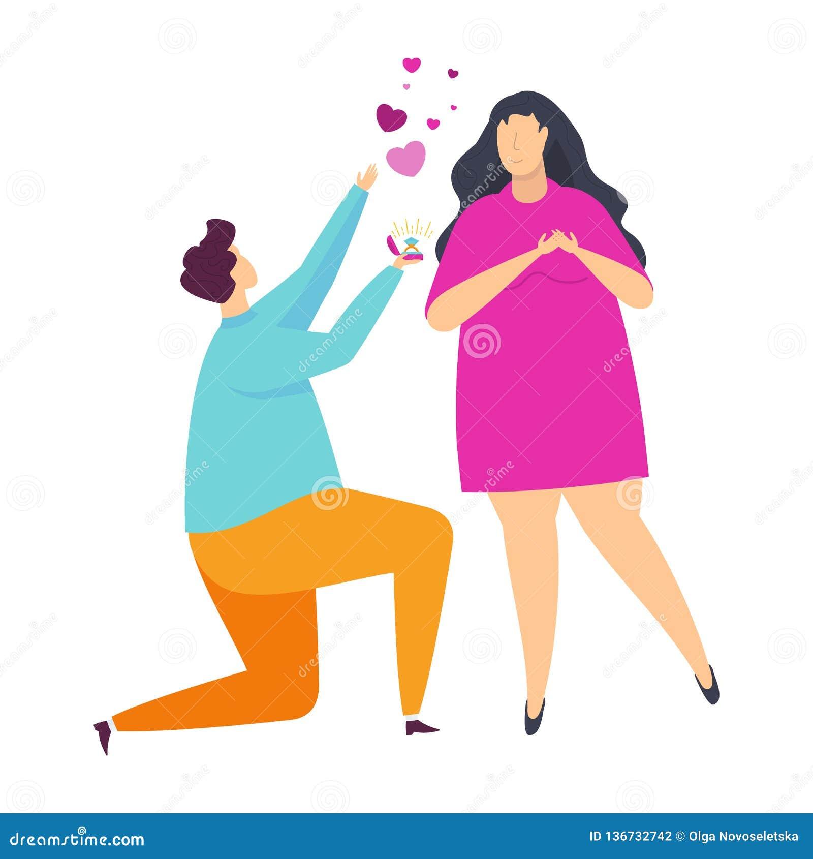 Szczęśliwa para młodzi ludzie w miłości Charaktery dla walentynki