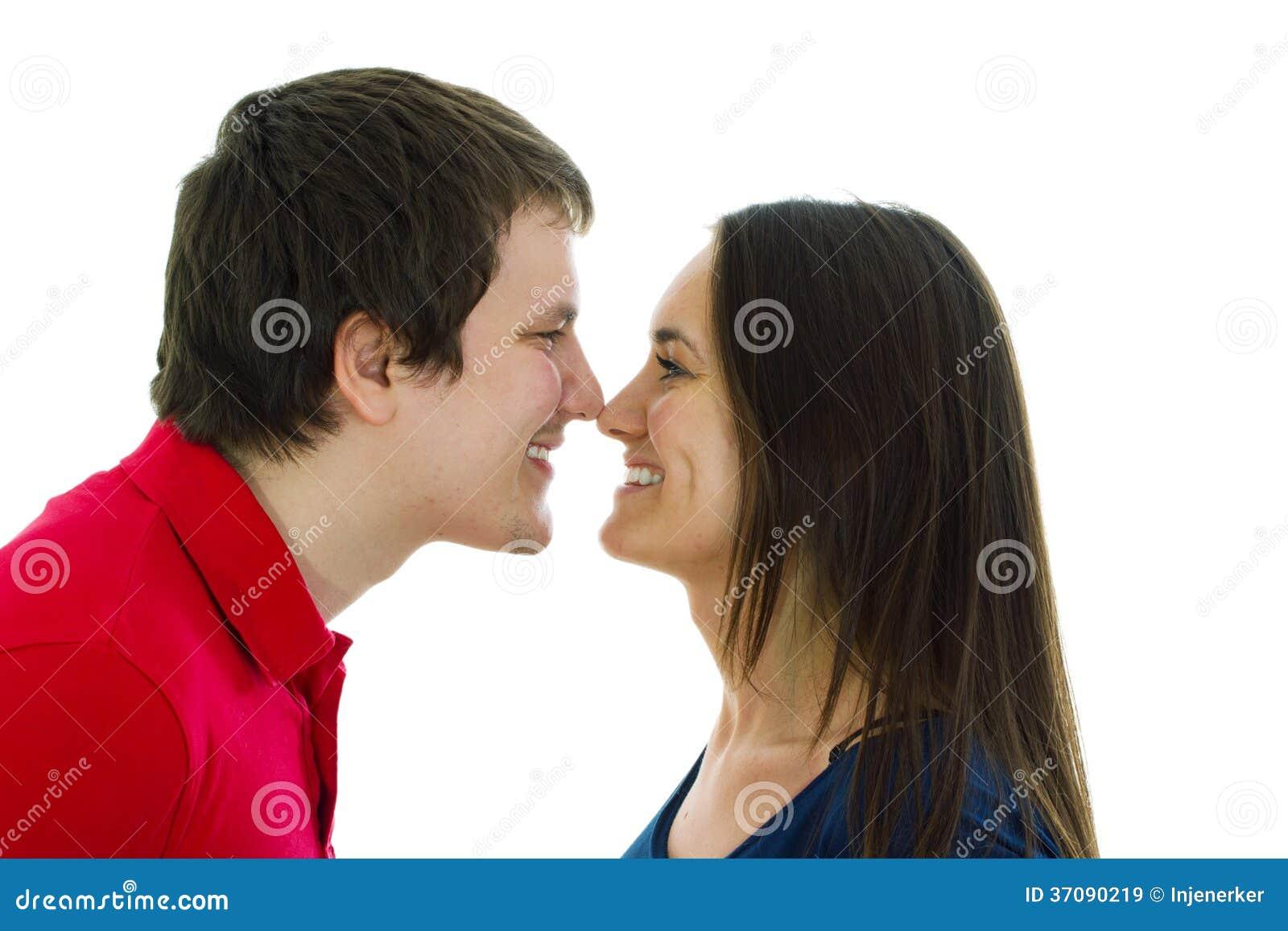 Download Szczęśliwa Para Na Białym Tle Obraz Stock - Obraz złożonej z para, łóżko: 37090219