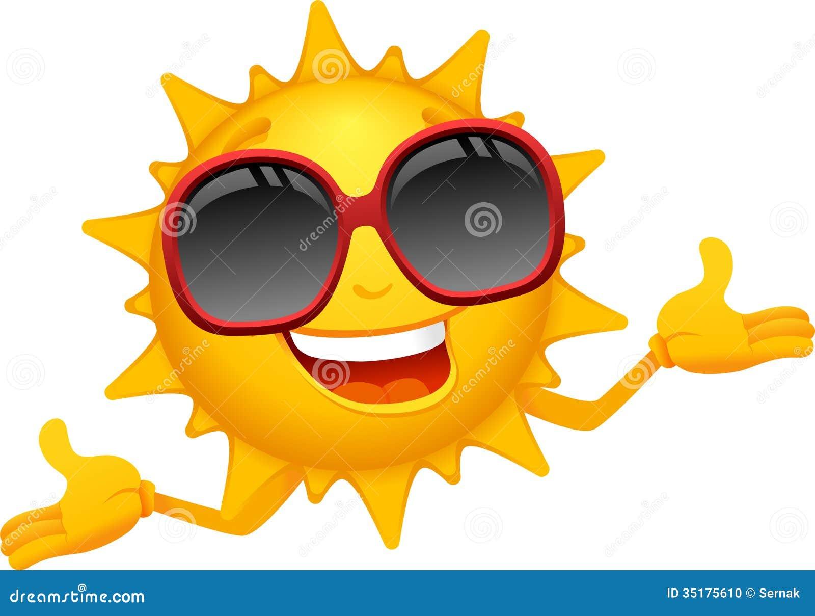 Szczęśliwa słońce kreskówka