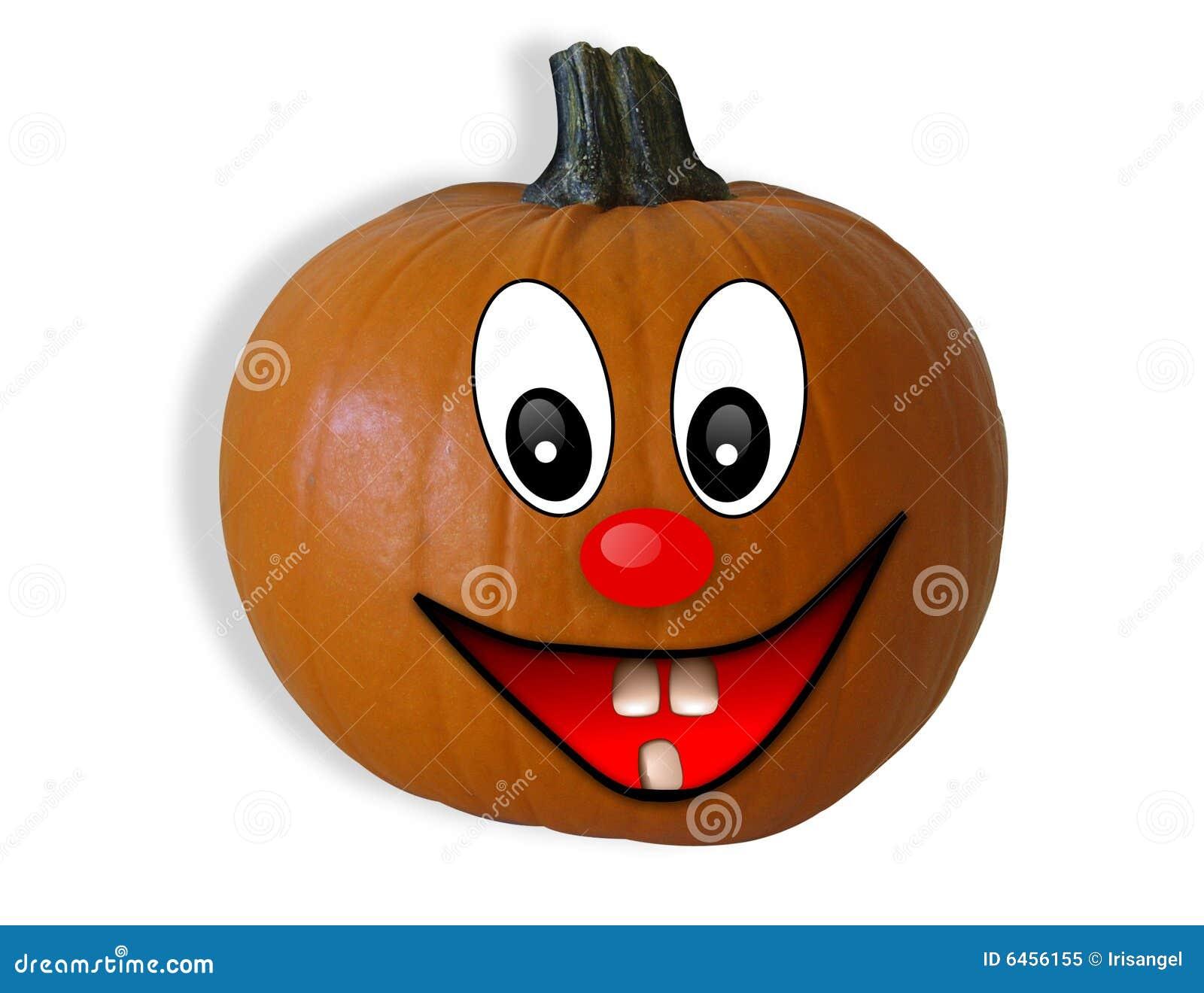 Szczęśliwa twarz Halloween odseparowana pączuszku