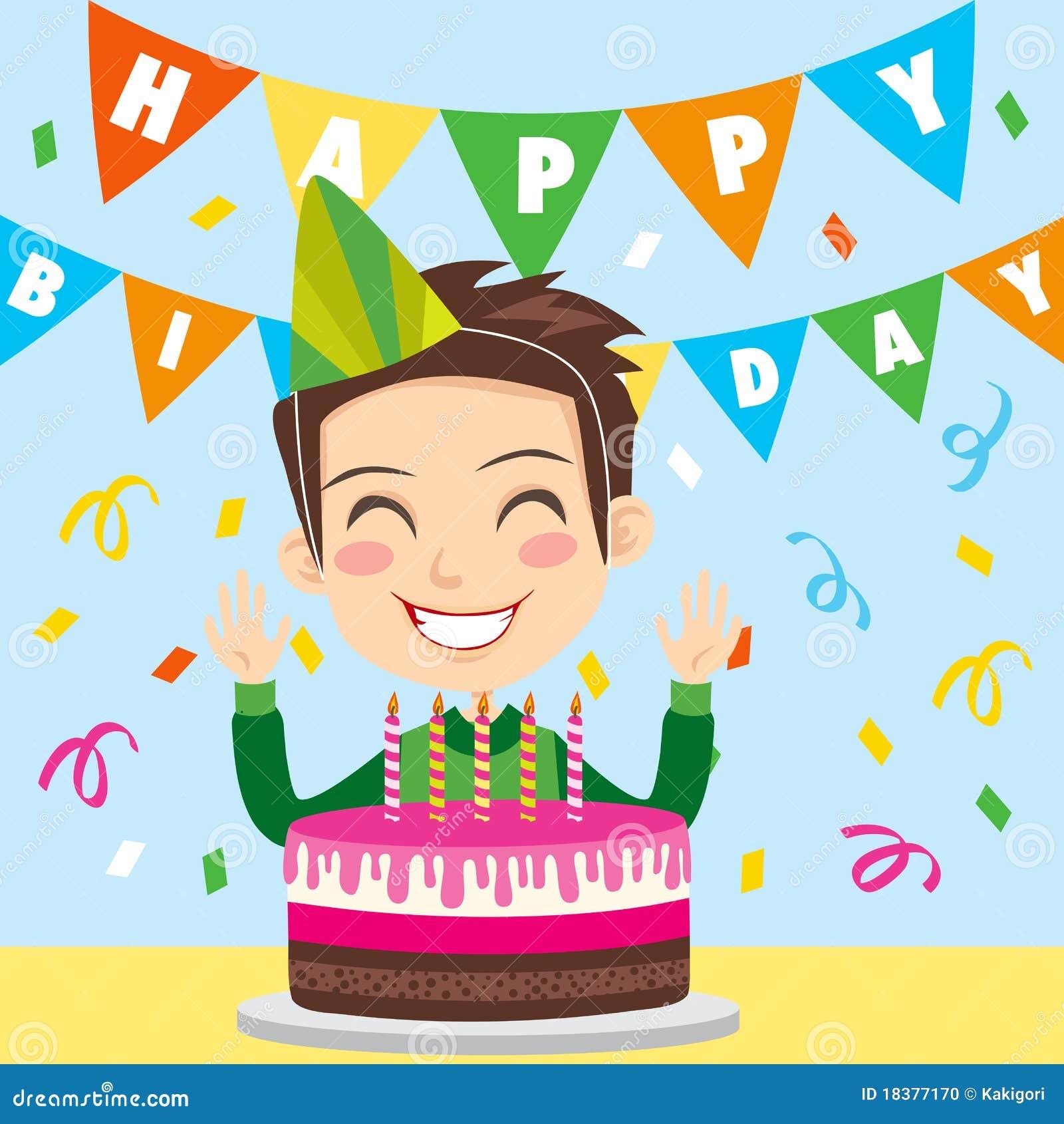 Szczęśliwa urodzinowa chłopiec