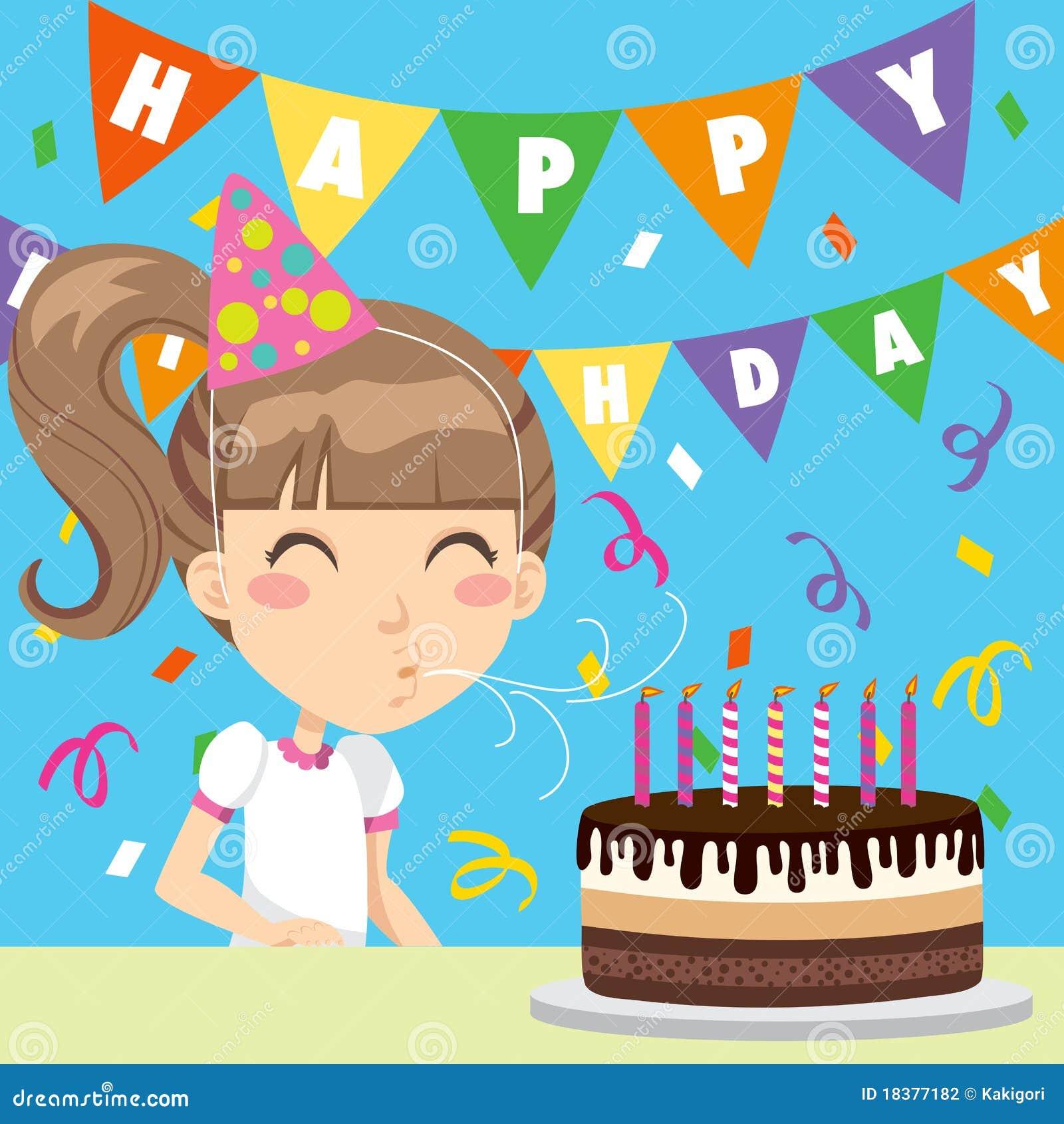 Szczęśliwa urodzinowa dziewczyna