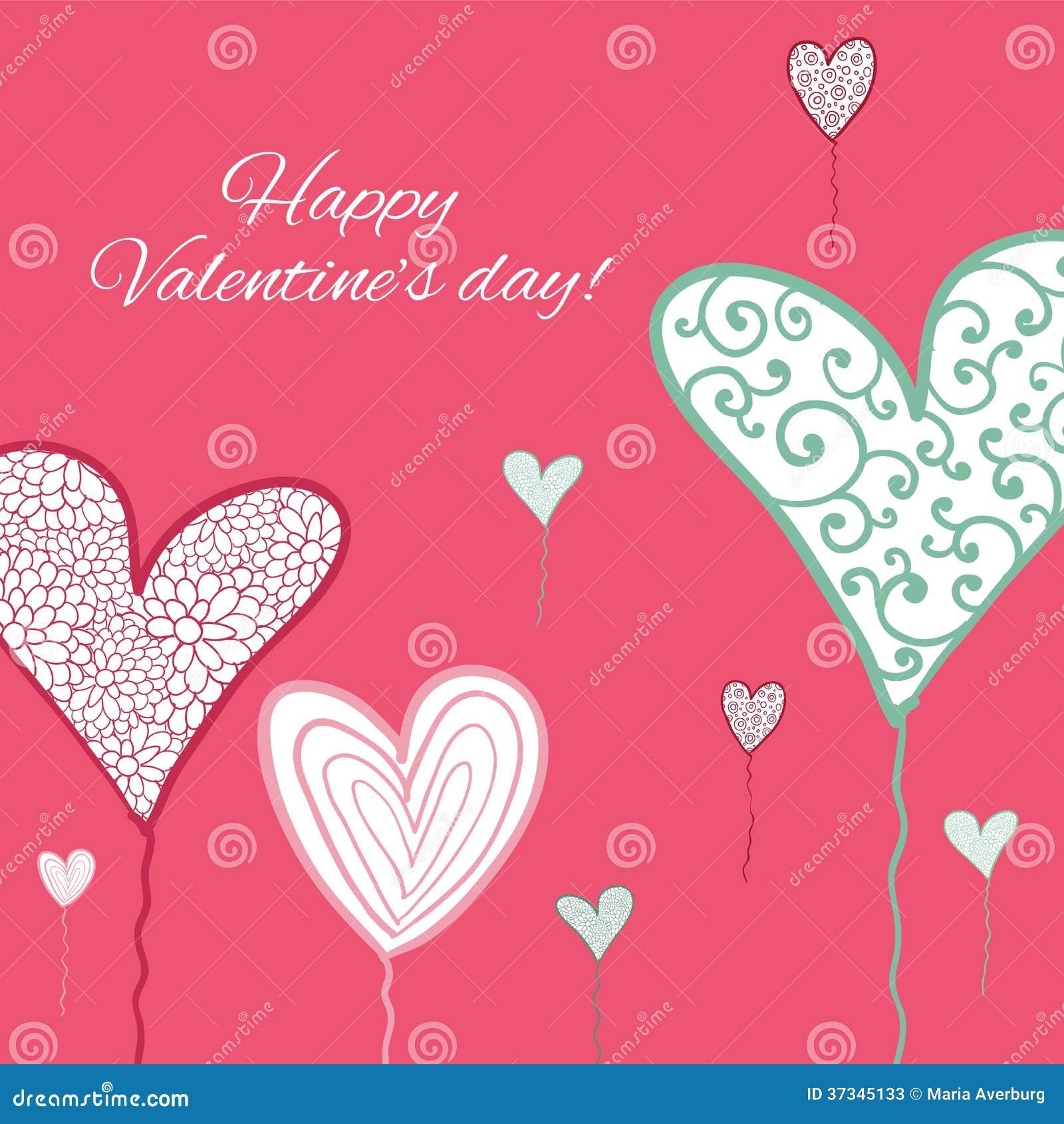 Szczęśliwa valentines dnia karta.