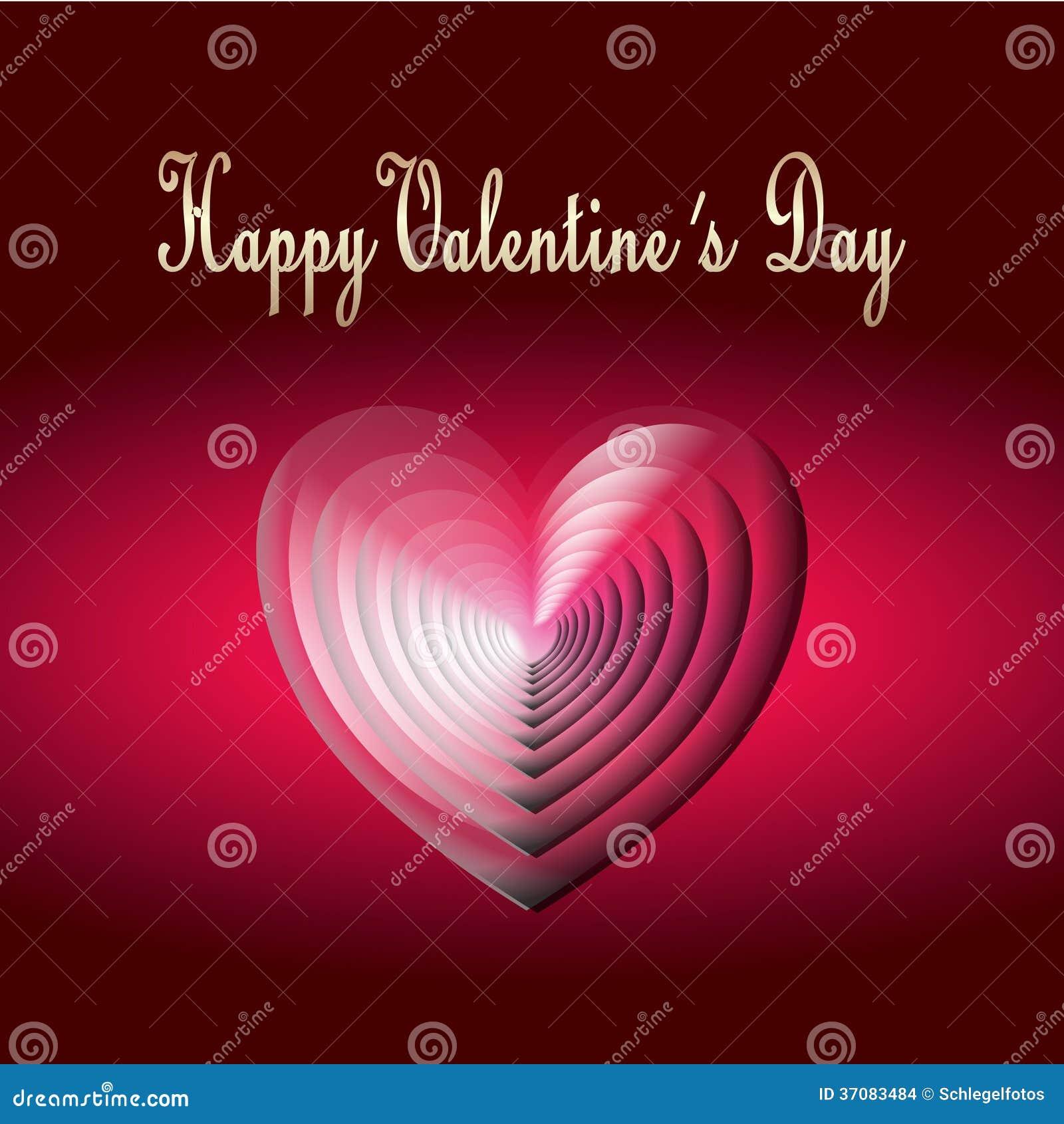 Download Szczęśliwa Walentynki Karta Ilustracji - Ilustracja złożonej z amour, obdarzony: 37083484