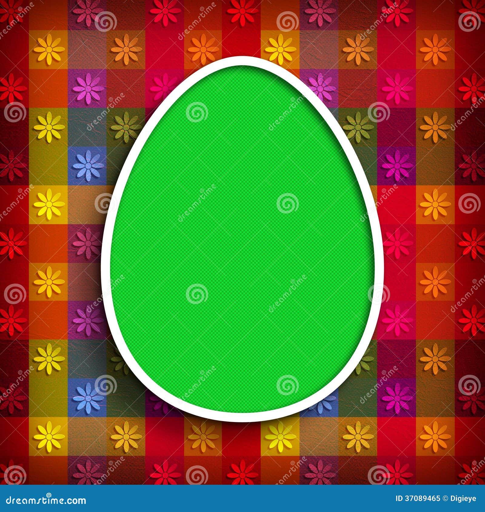Download Szczęśliwa Wielkanoc - Zielony Jajko Na Wzorzystym Tle Ilustracji - Ilustracja złożonej z wiosna, kardamon: 37089465