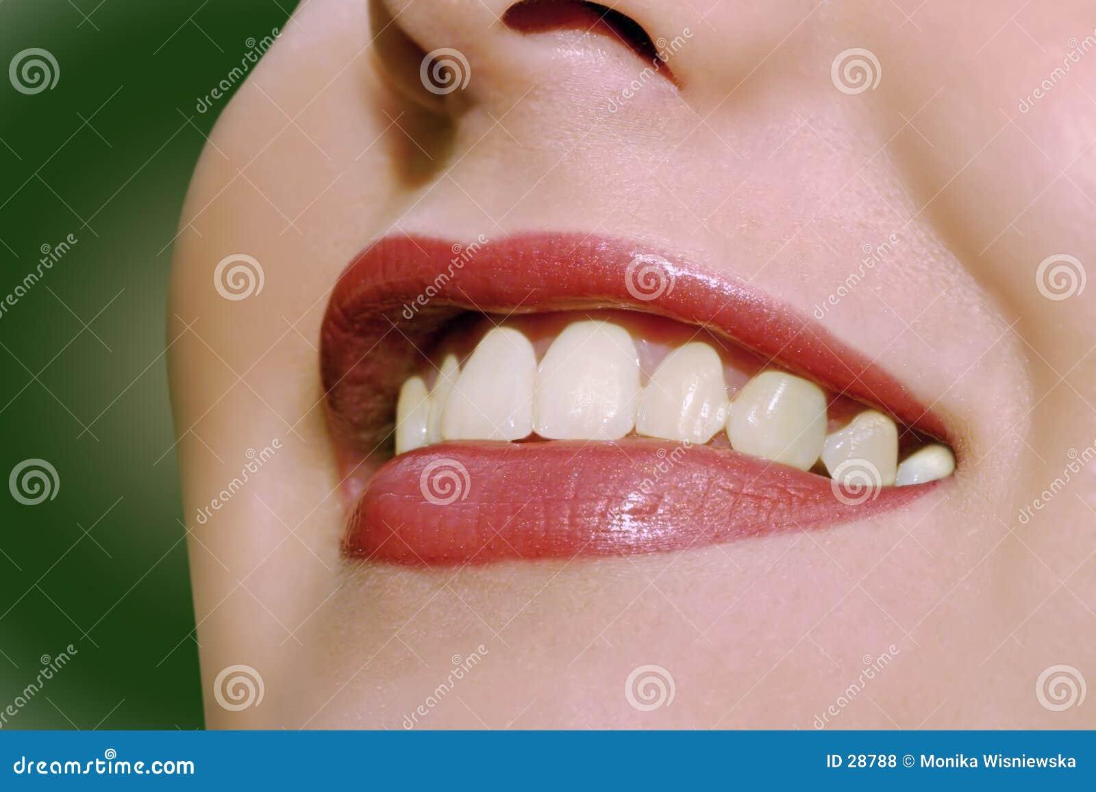 Download Szczęśliwe usta zdjęcie stock. Obraz złożonej z stomatologiczny - 28788
